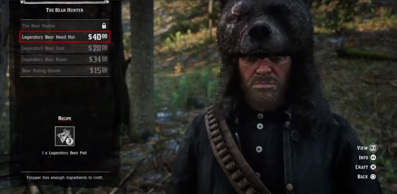 What to use Legendary Bear Pelt for in Red Dead Redemption 2 | AllGamers