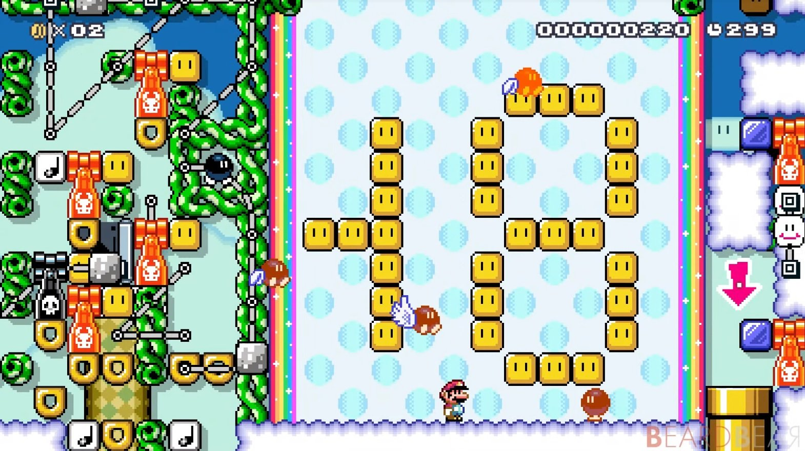 this working calculator in mario maker 2 is absurd