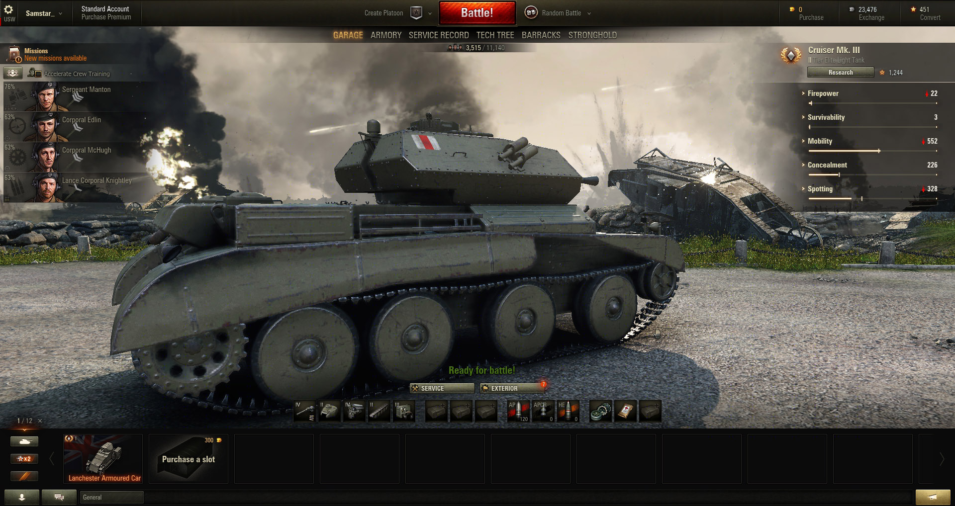 Cruiser Mk 3: Suspension