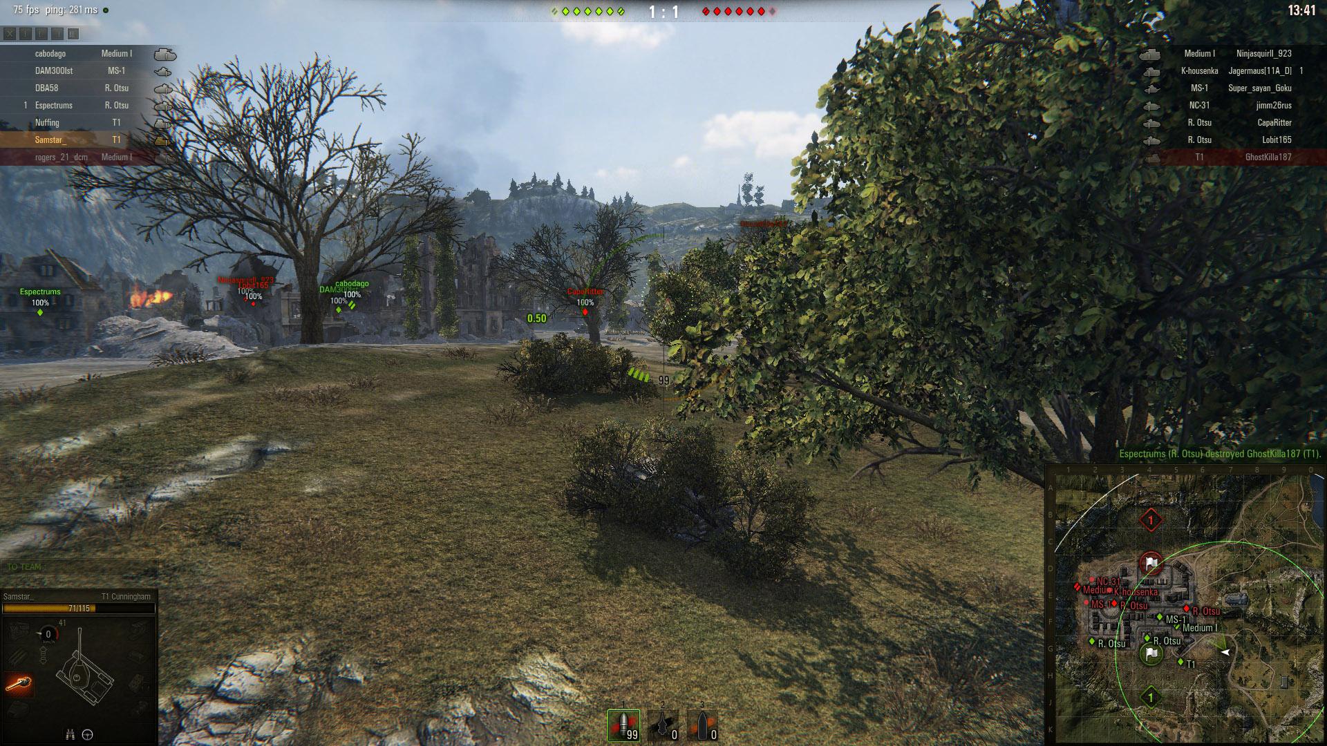 T1 Spotting