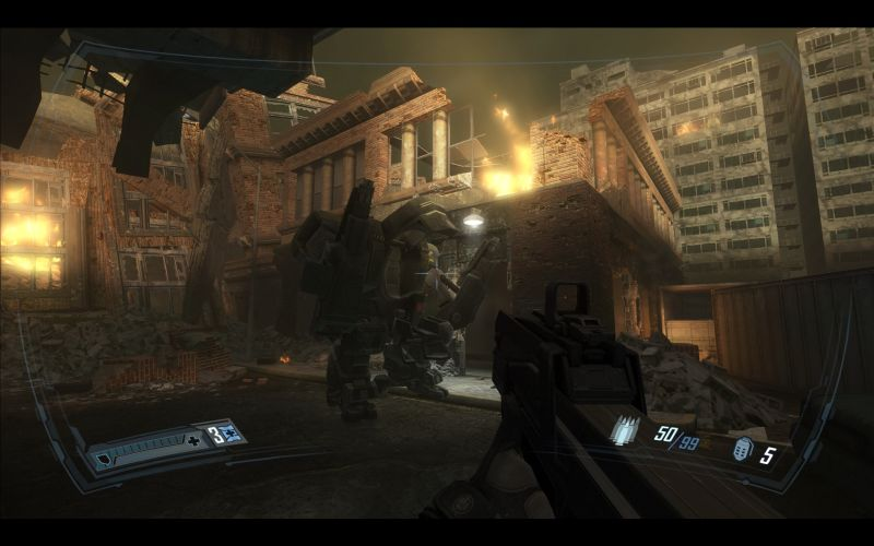 The mech in FEAR 2 offered a brief moment of respite from the horror.