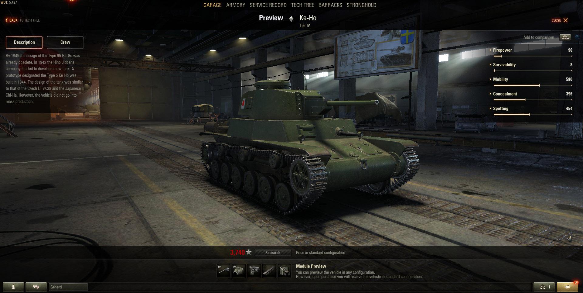 The Type 5 Ke-Ho is a small and nimble Japanese Light tank.