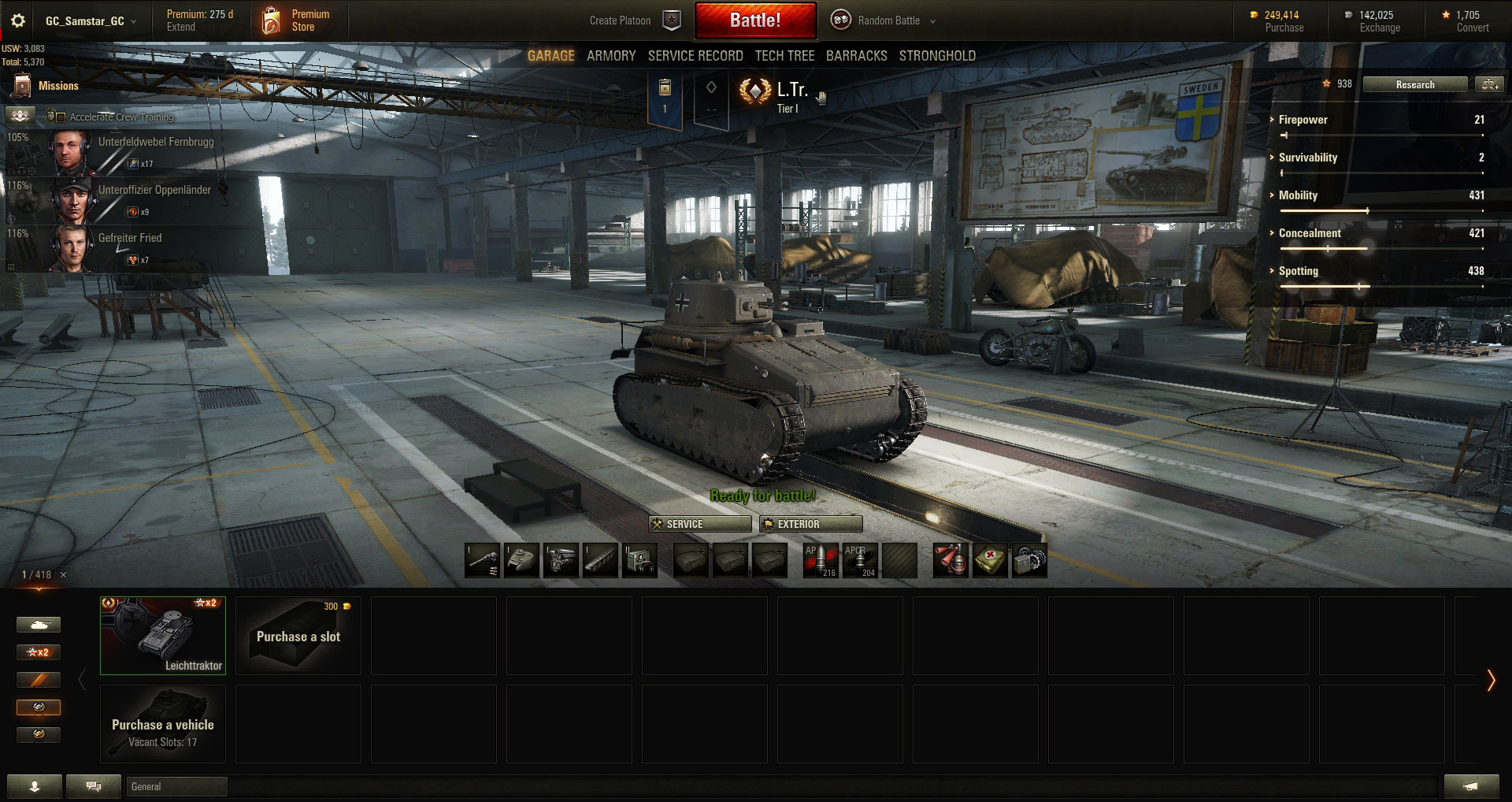 The Leichttraktor is one of the most popular tanks to use when seal clubbing