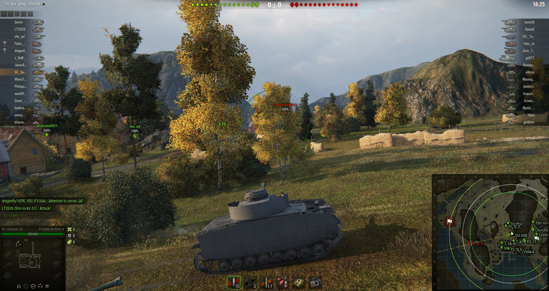Get into position quickly to take advantage of the Panzer IV's excellent accuracy across long ranges.