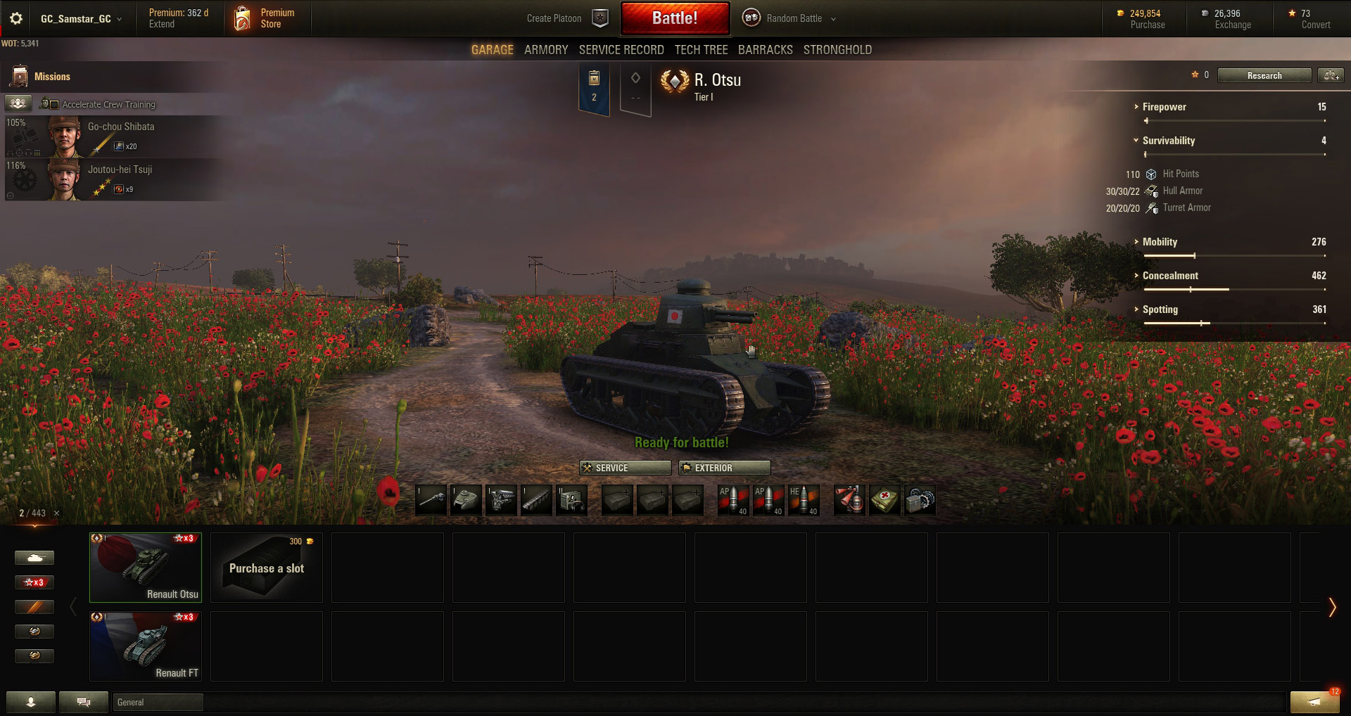 The Renault Otsu, while not as revolutionary as the FT, packs a mean punch in World of Tanks