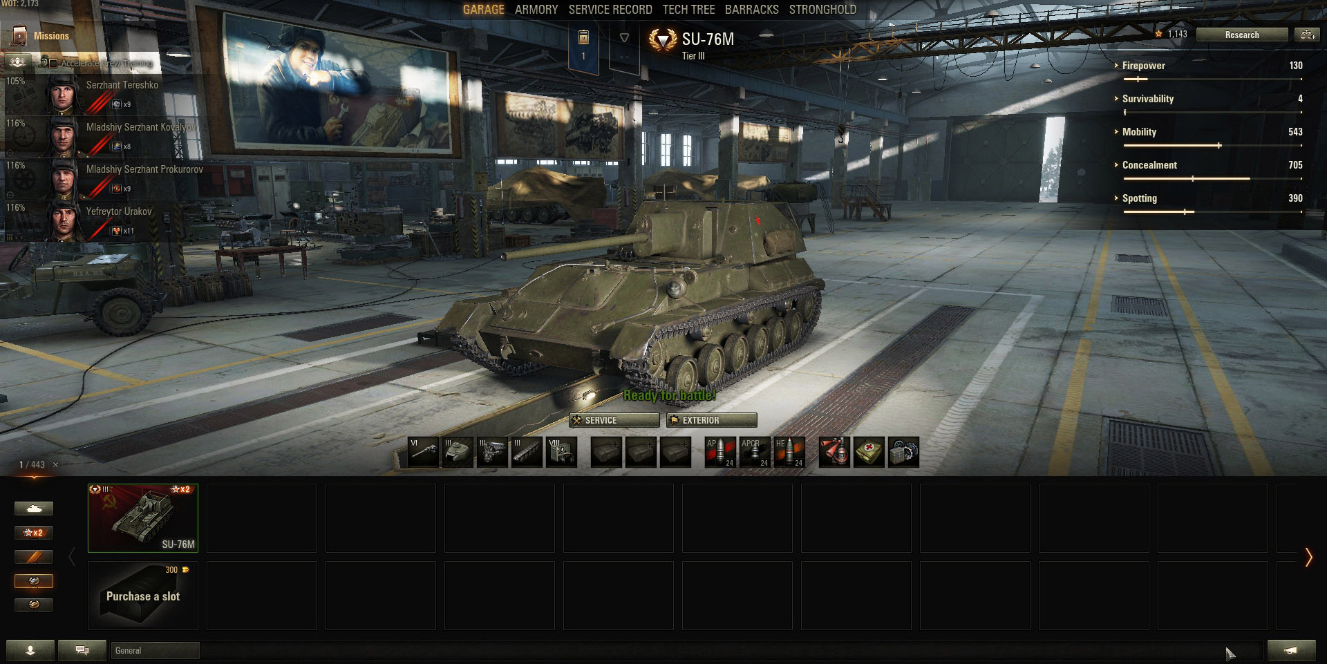Included in World of Tanks is the SU-76, M Variant.