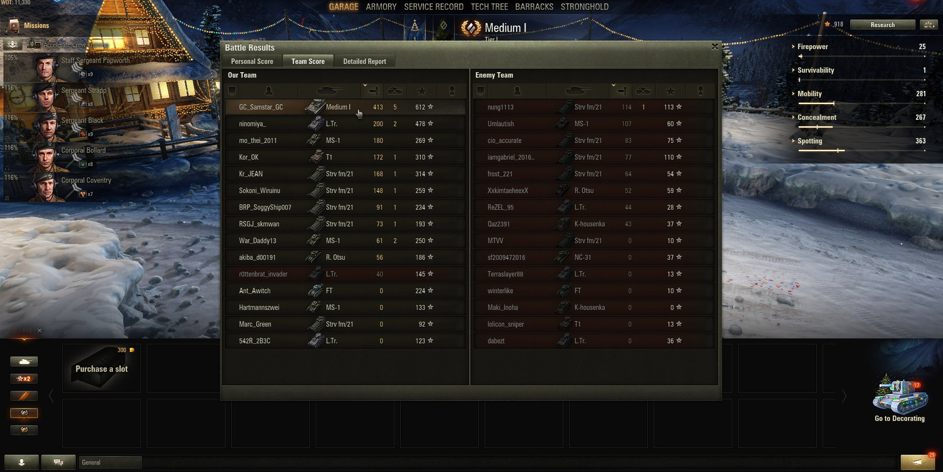 The amount of damage you need to deal is on a per-tank basis. While a Tier 1 tank won't be able to deal thousands of damage, dealing only 400 damage in a Tier 8 tank would be inexcusable. Help your team by firing on every tank you can see!