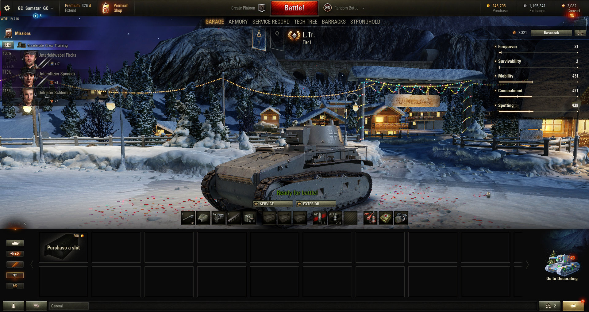 The Leichttraktor is one of the most powerful Tier 1 tanks.