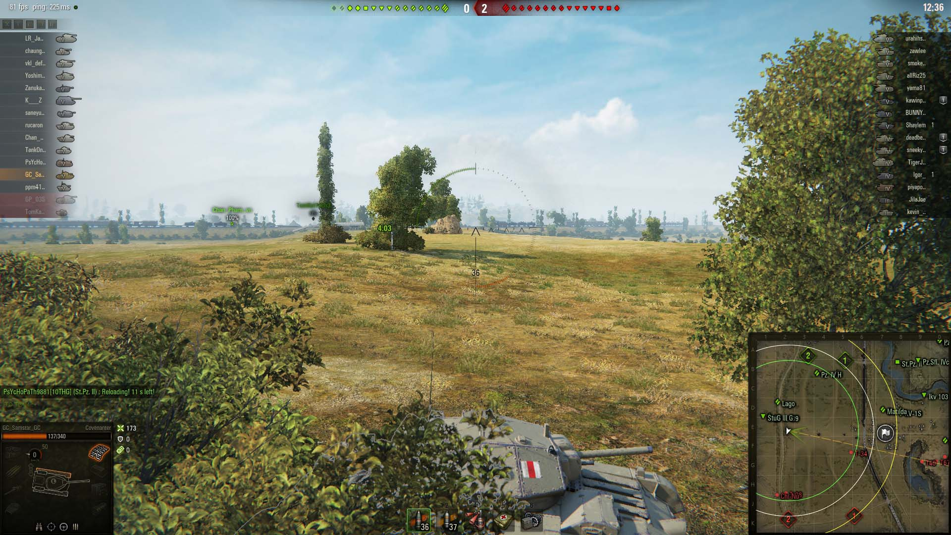Being able to look around your tank without moving your gun helps keep the reticule tight and focused.