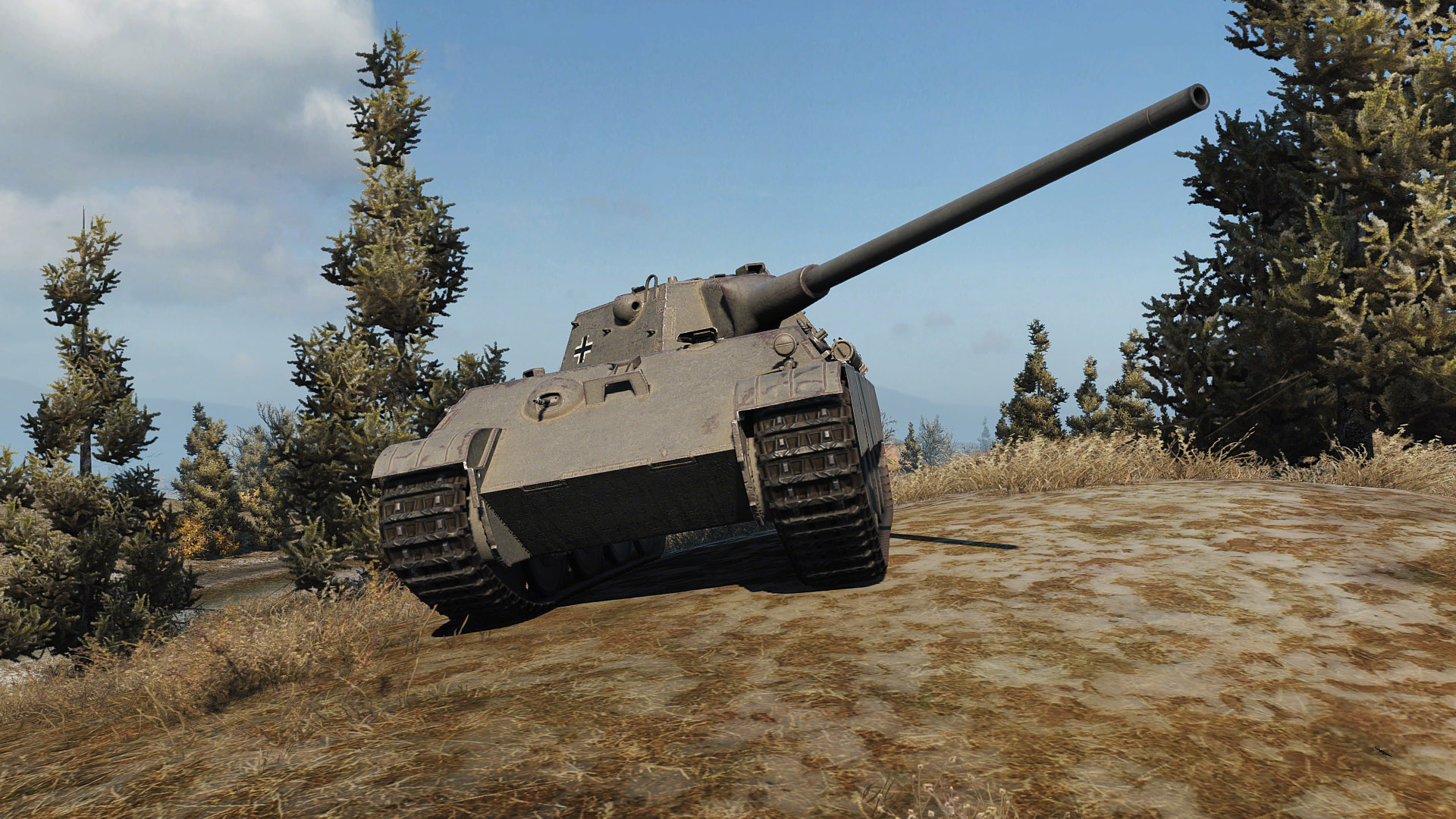 The Panther mit 8,8cm has prominent glacis armor.