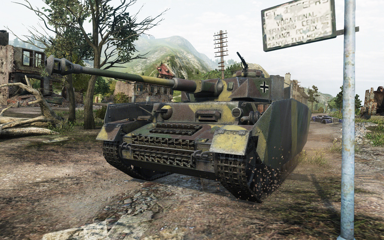 While not ideal at close-range combat, the Pz IV is right at home fighting from a distance.