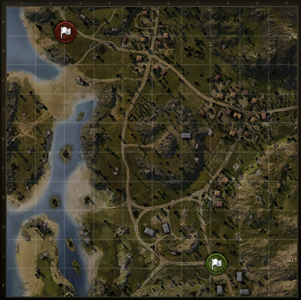 Tank battlegrounds mines map strategy allgamers the lighthouse island is to the west while the town is to the east gumiabroncs Images
