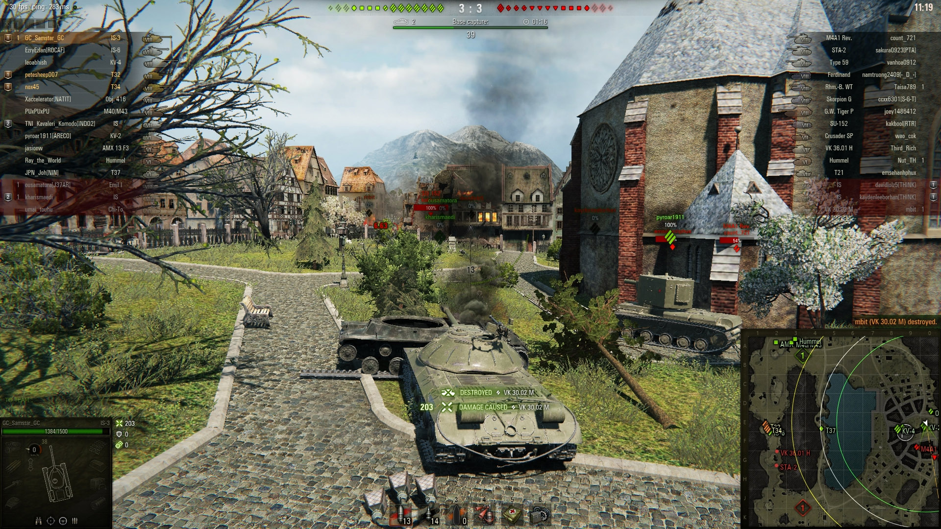 Using the wreckage of a tank is a good way to go hull down. You'll be able to shoot over the top while protecting your fragile hull.
