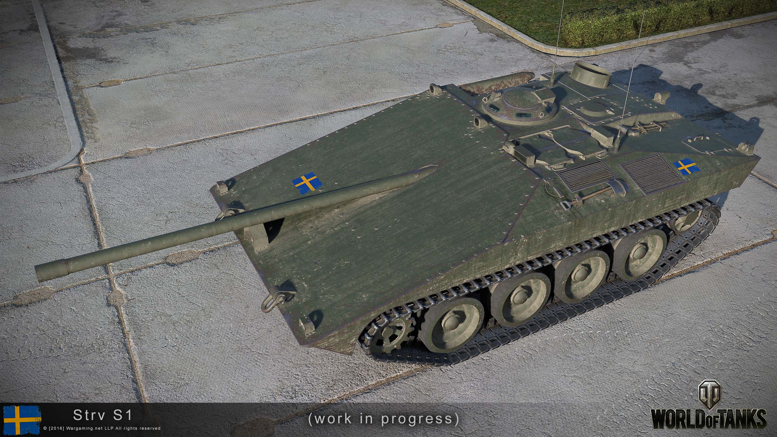 World of Tanks players have been lucky enough to receive another tech tree in the form of the Swedish line, and now there's soon to be some new additions. Check out the frontal armor on the Strv S1!