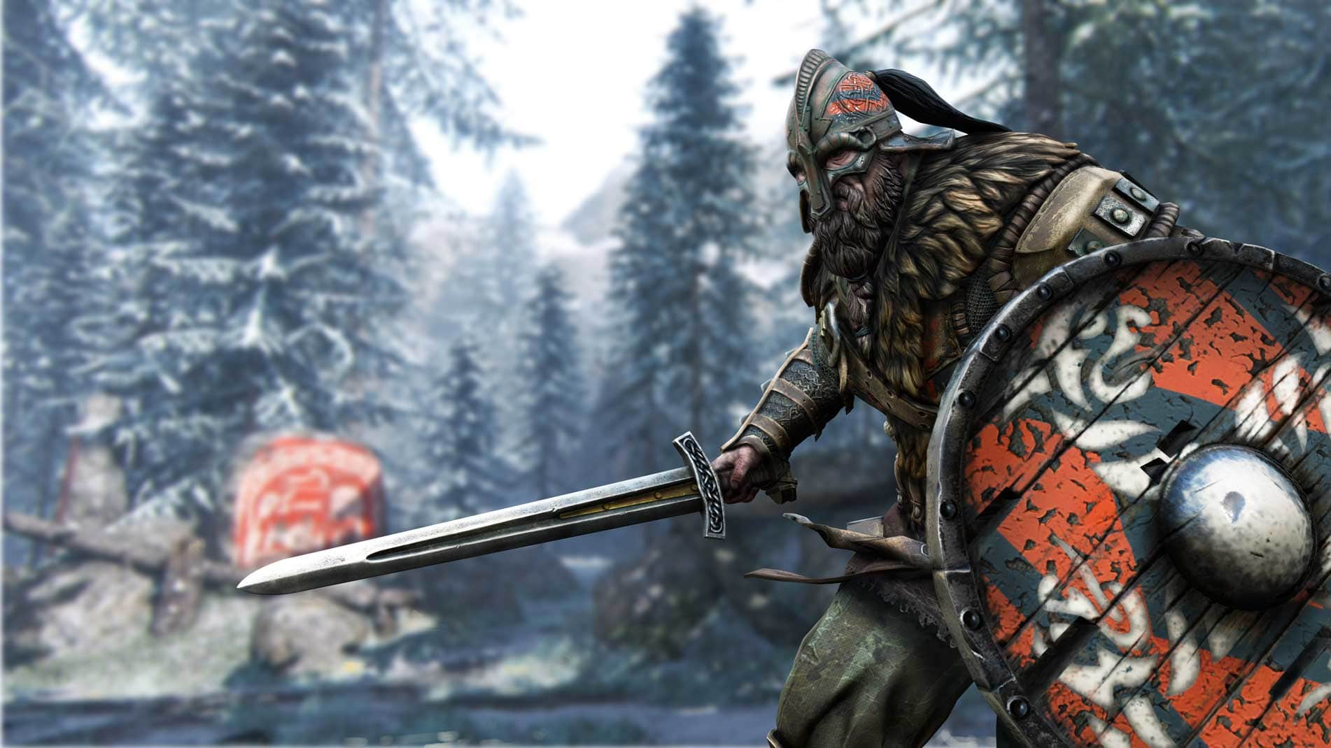 Thanks to his large shield, the Warlord is able to use it to block damage that would otherwise chip away at his health.