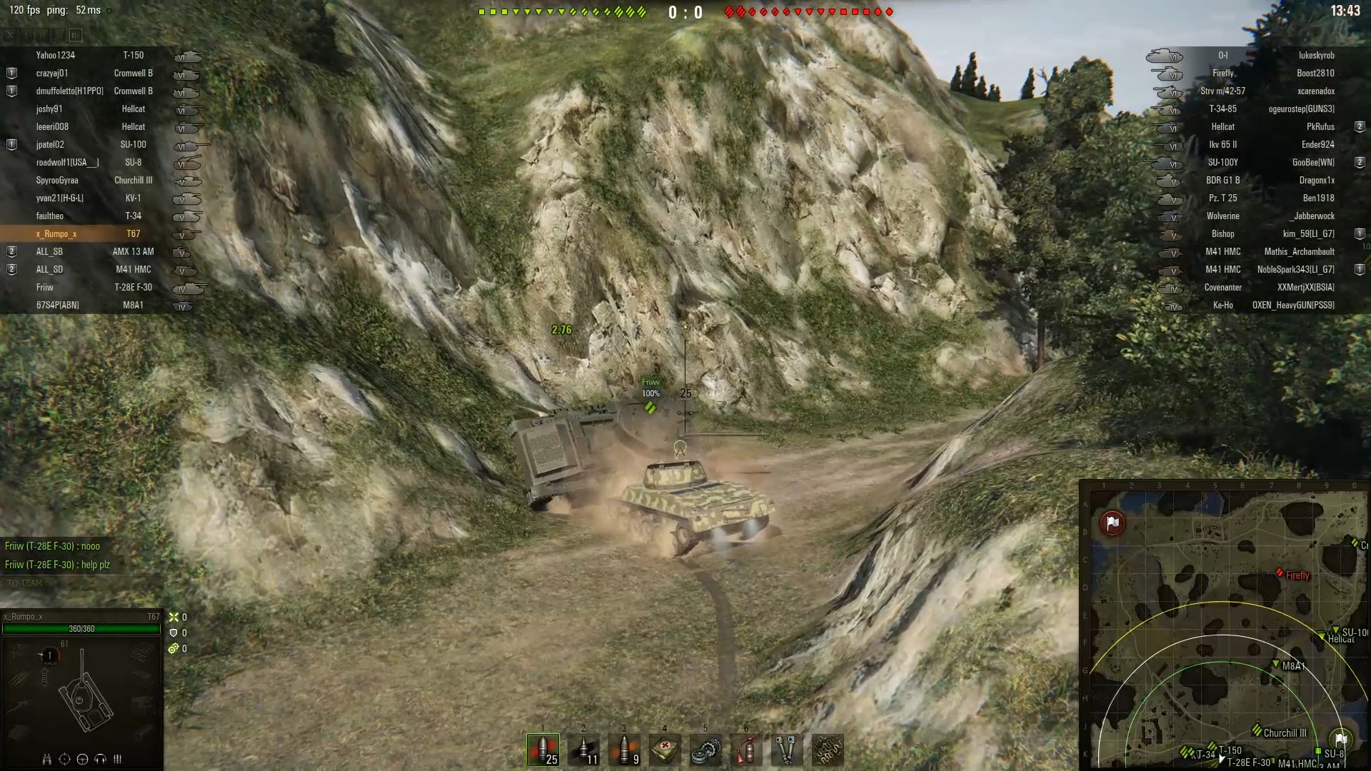 With enough speed, even the smallest of tanks can help flip an upside down tank back onto its tracks in World of Tanks.