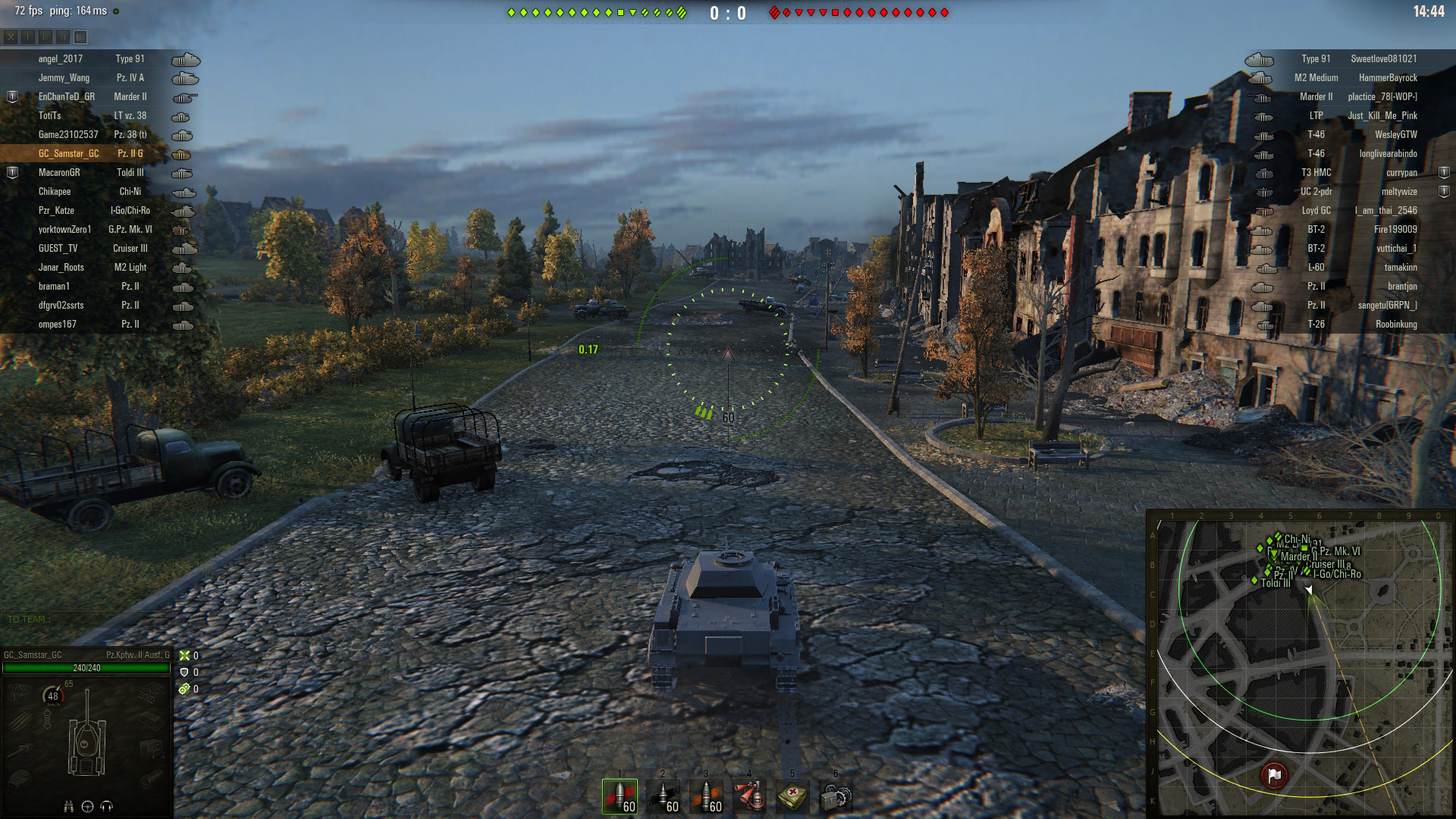 The Panzer Division, unaware of the KV-1s lying in ambush, made their way, single-file, along the highway.