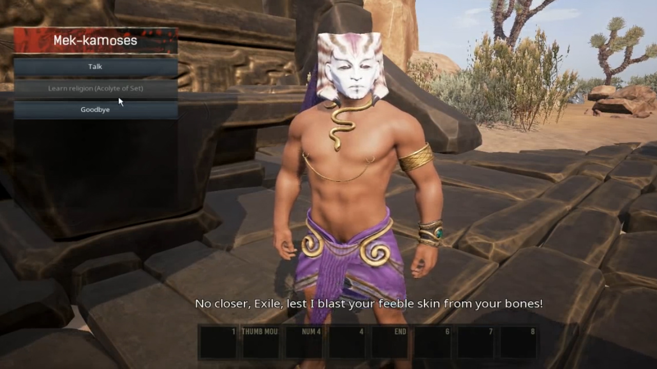 How to change your religion in Conan Exiles - Acolyte of Set teacher
