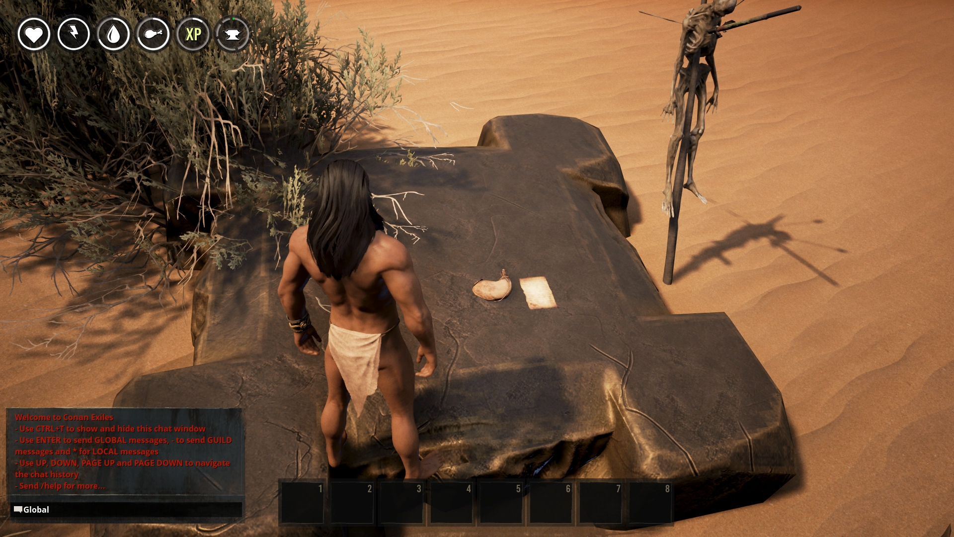 Conan exiles how to get started allgamers when you spawn into the conan exiles forumfinder Image collections