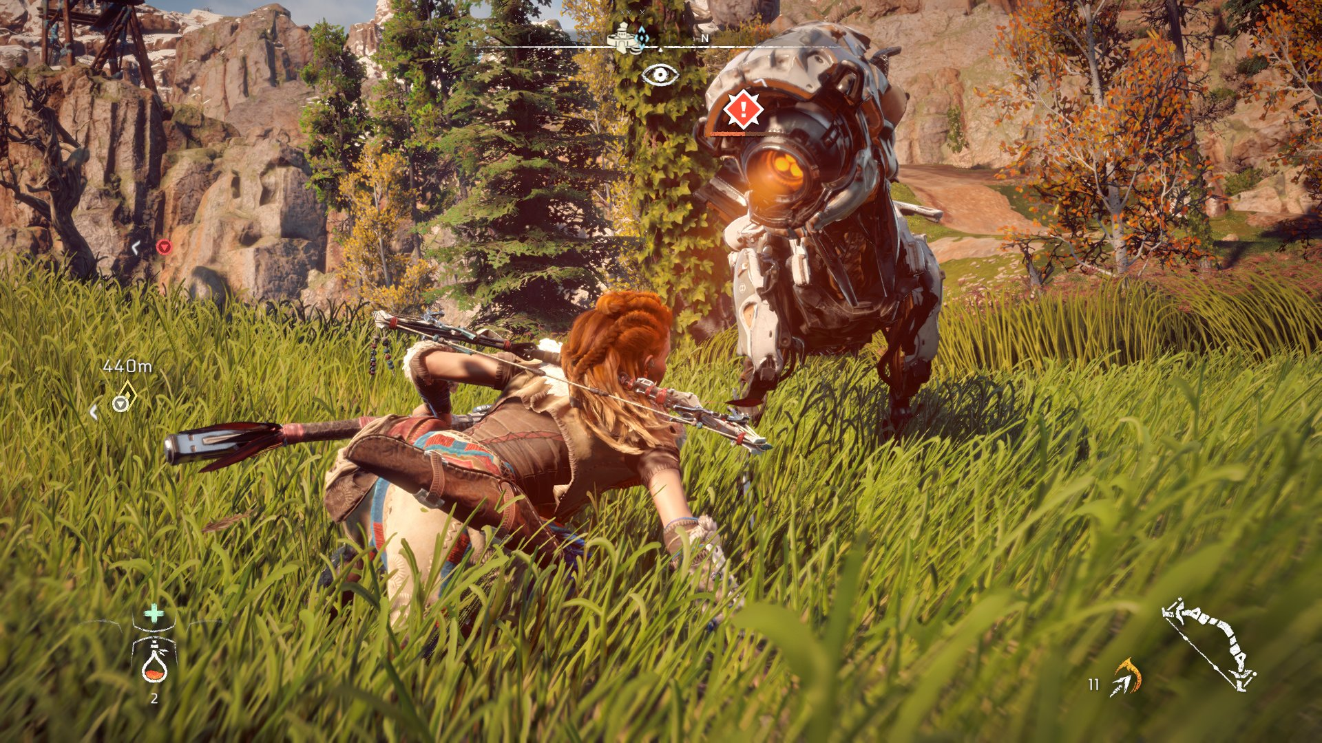 Setting traps in Horizon: Zero Dawn can give you the edge you need in a fight.