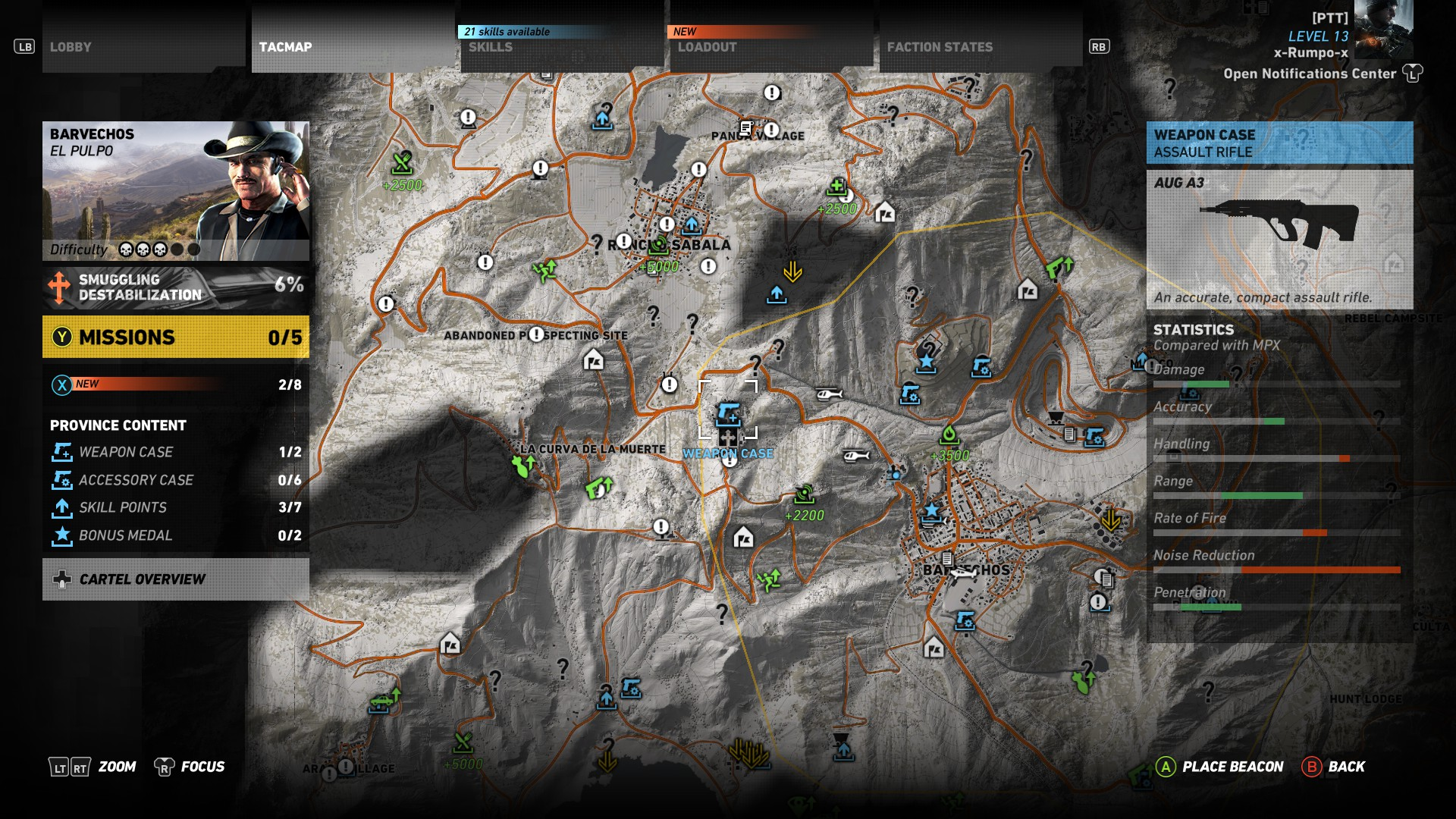Ghost Recon Wildlands Karte.Ghost Recon Wildlands Aug A3 Assault Rifle Location Allgamers