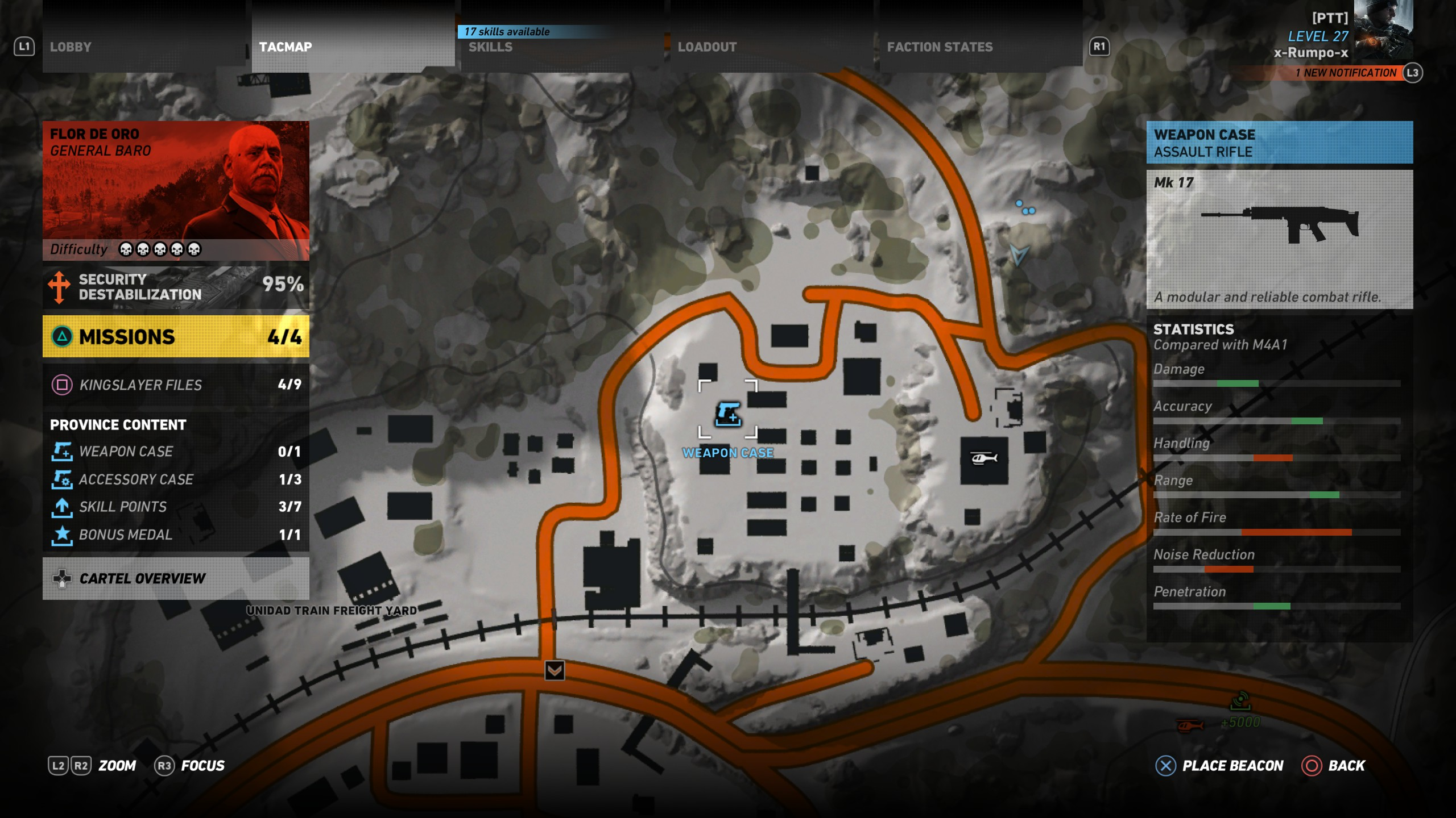 map image of the MK17 location in Ghost Recon Wildlands