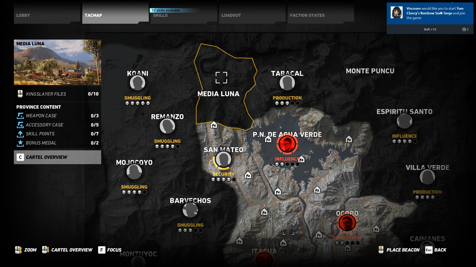 Media Luna map location - How to get the Vector in Ghost Recon Wildlands