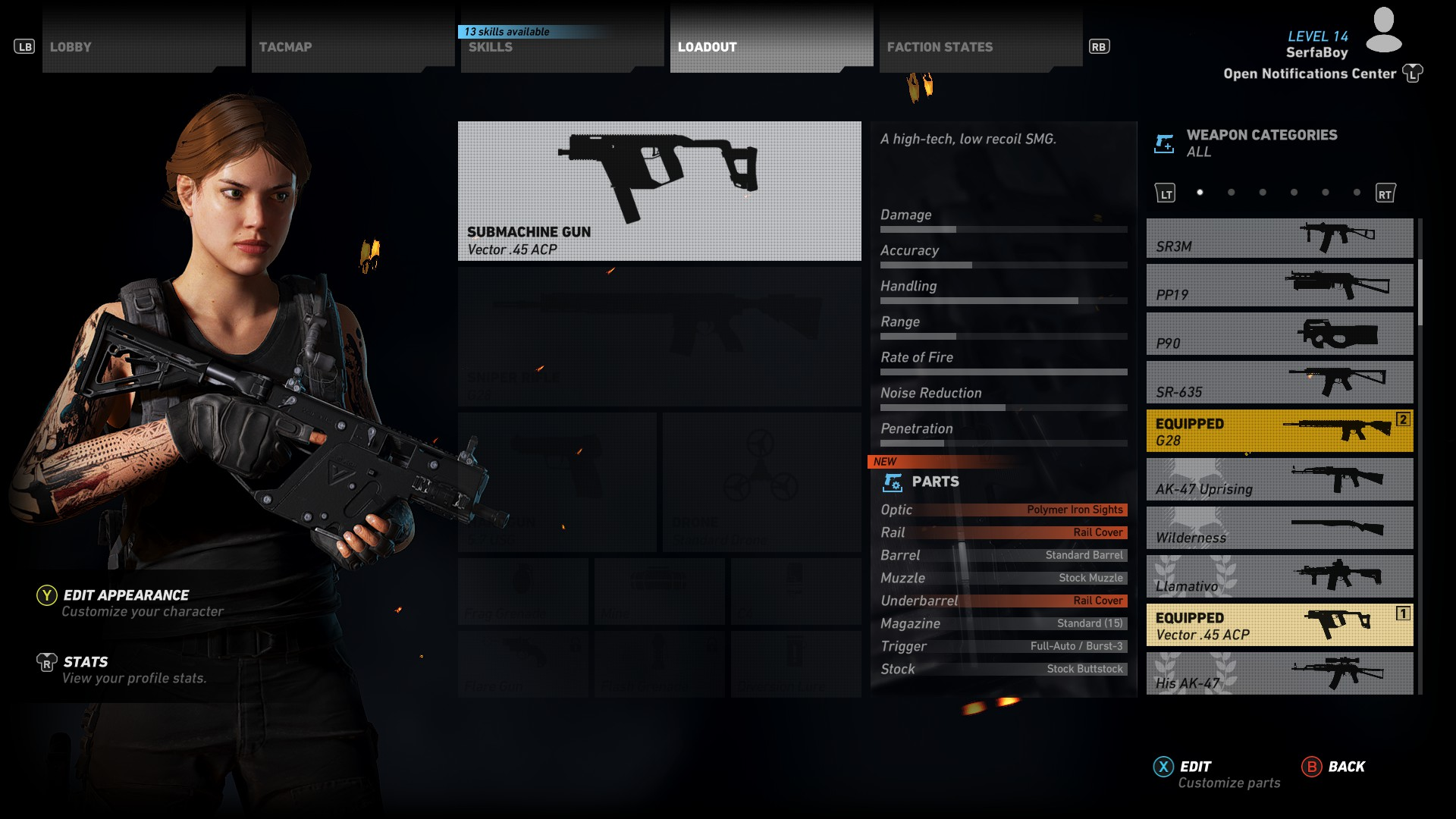 The Vector stats - How to get the Vector 45 ACP in Ghost Recon Wildlands