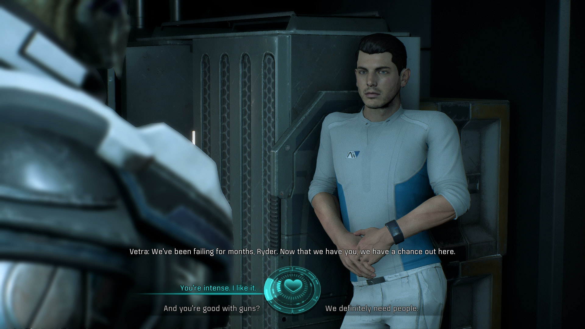 To Romance Vetra You Will Need Speak With Her After Every Major Mission And