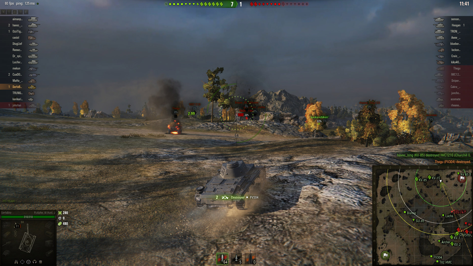 A well-executed flank will result in numerous enemy deaths with minimal losses to your side. In the above image, my team begins to collapse in on the remaining enemies as our TD secures the SPGs and the base.