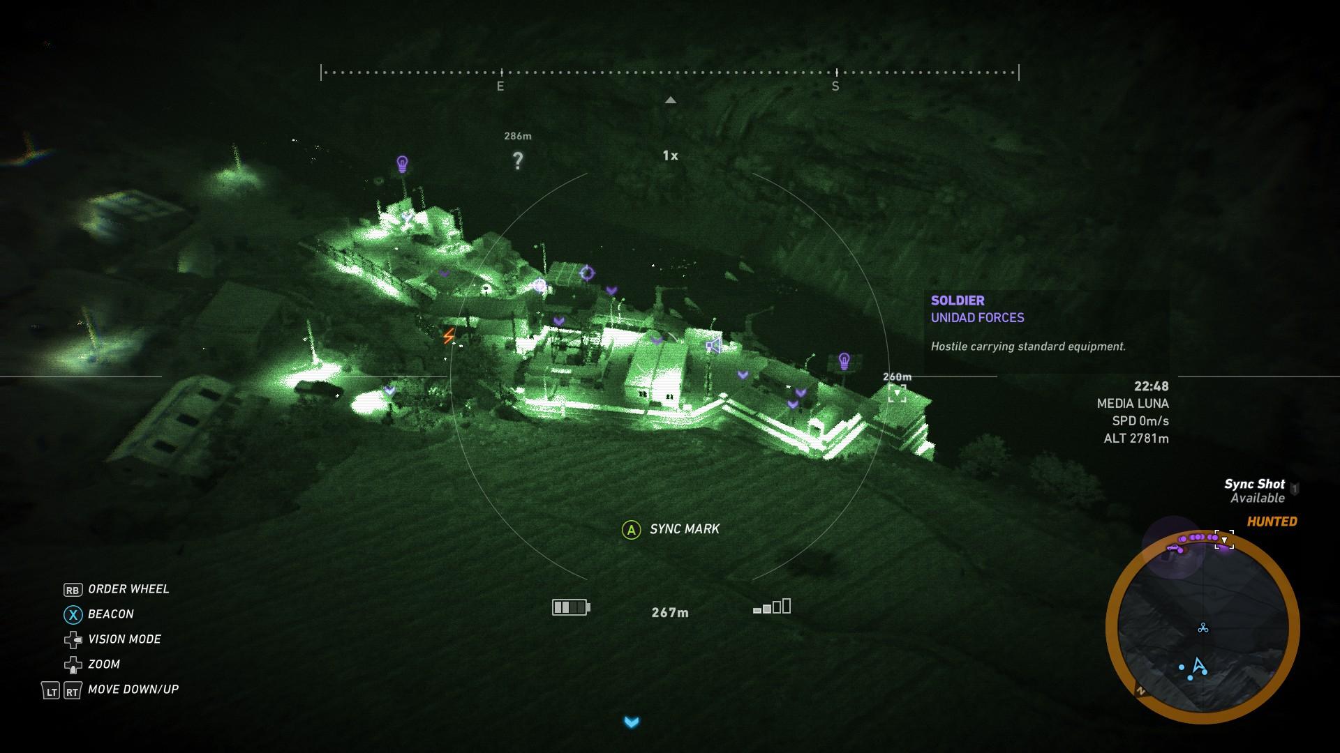 Drone recon image - ACR location in Ghost Recon Wildlands