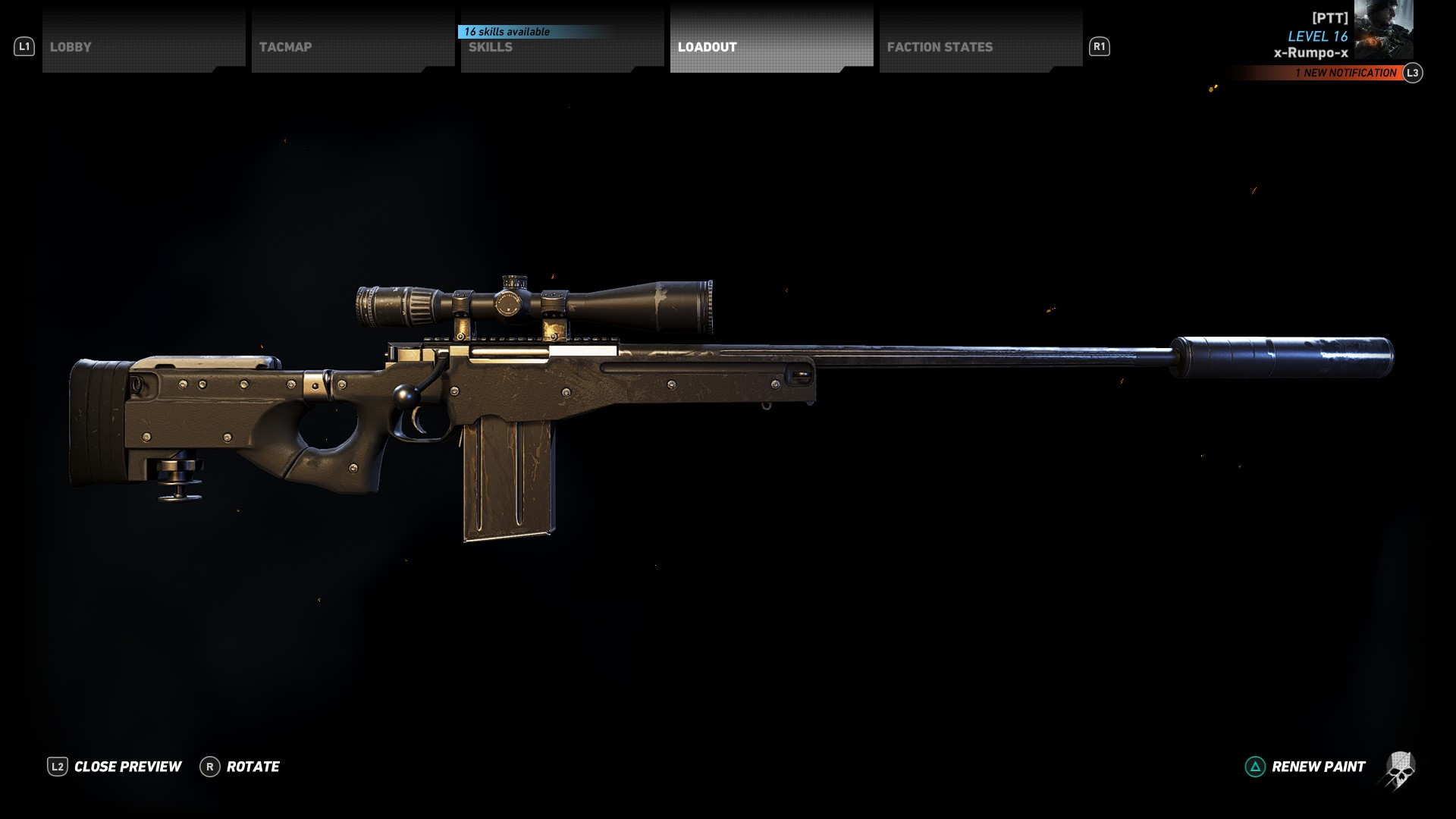 Image of the L115A3 Sniper Rifle. Where to find the L115A3 location in Ghost Recon Wildlands