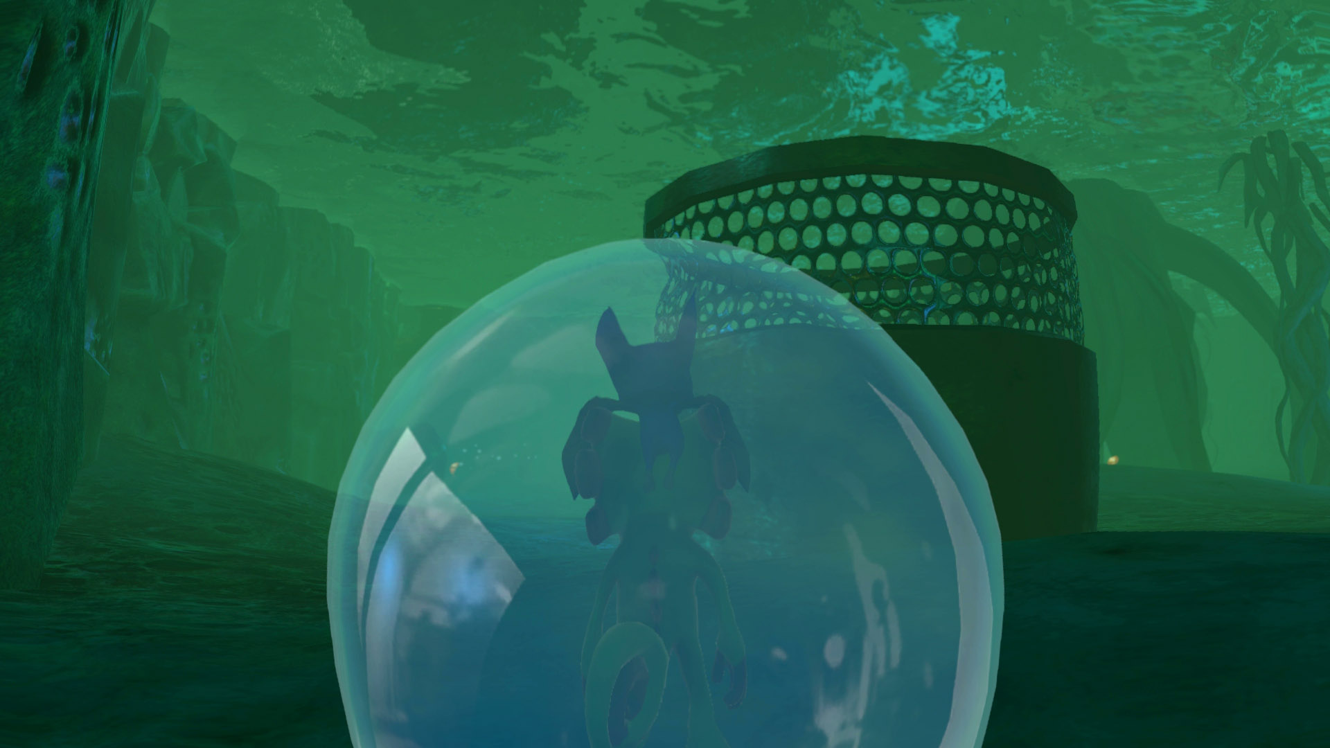 This Mollycool is found beneath the water, you will need Bubble Walk and Sonar 'Splosion to collect it.