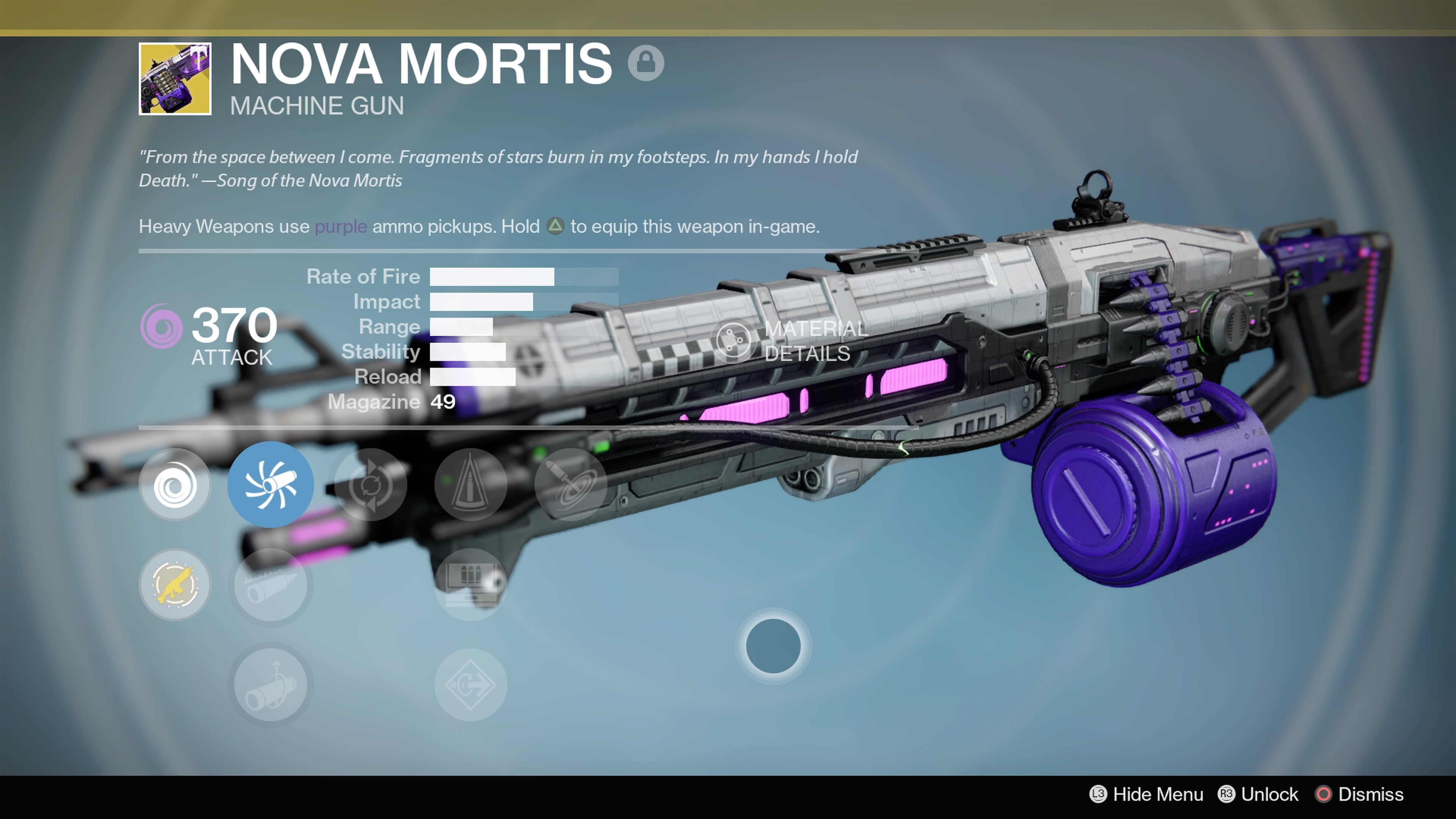 The Nova Mortis Heavy Machinegun is a must-have for Exotic collectors