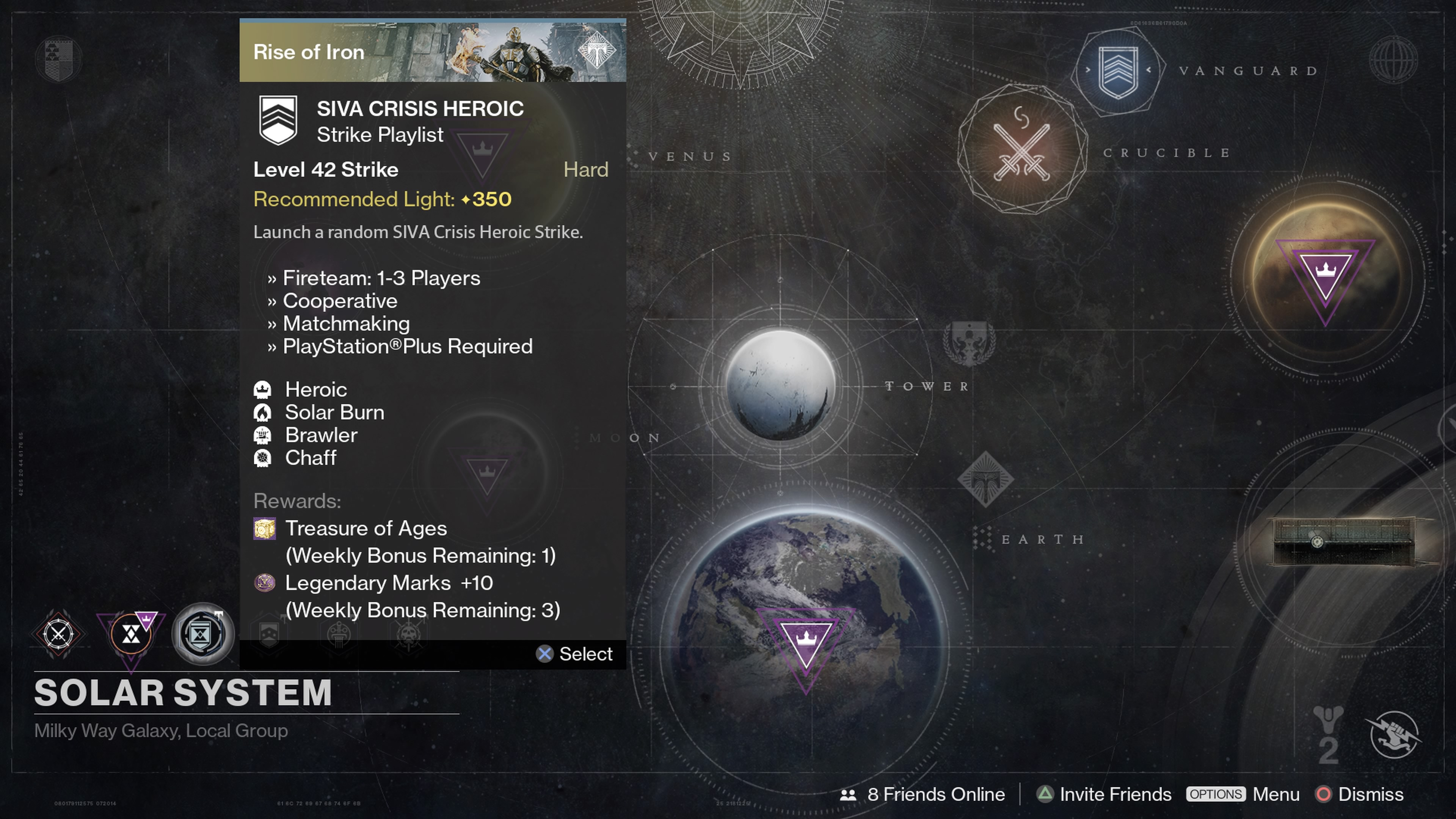 Complete three Strikes from the SIVA Crisis Heroic Strike Playlist