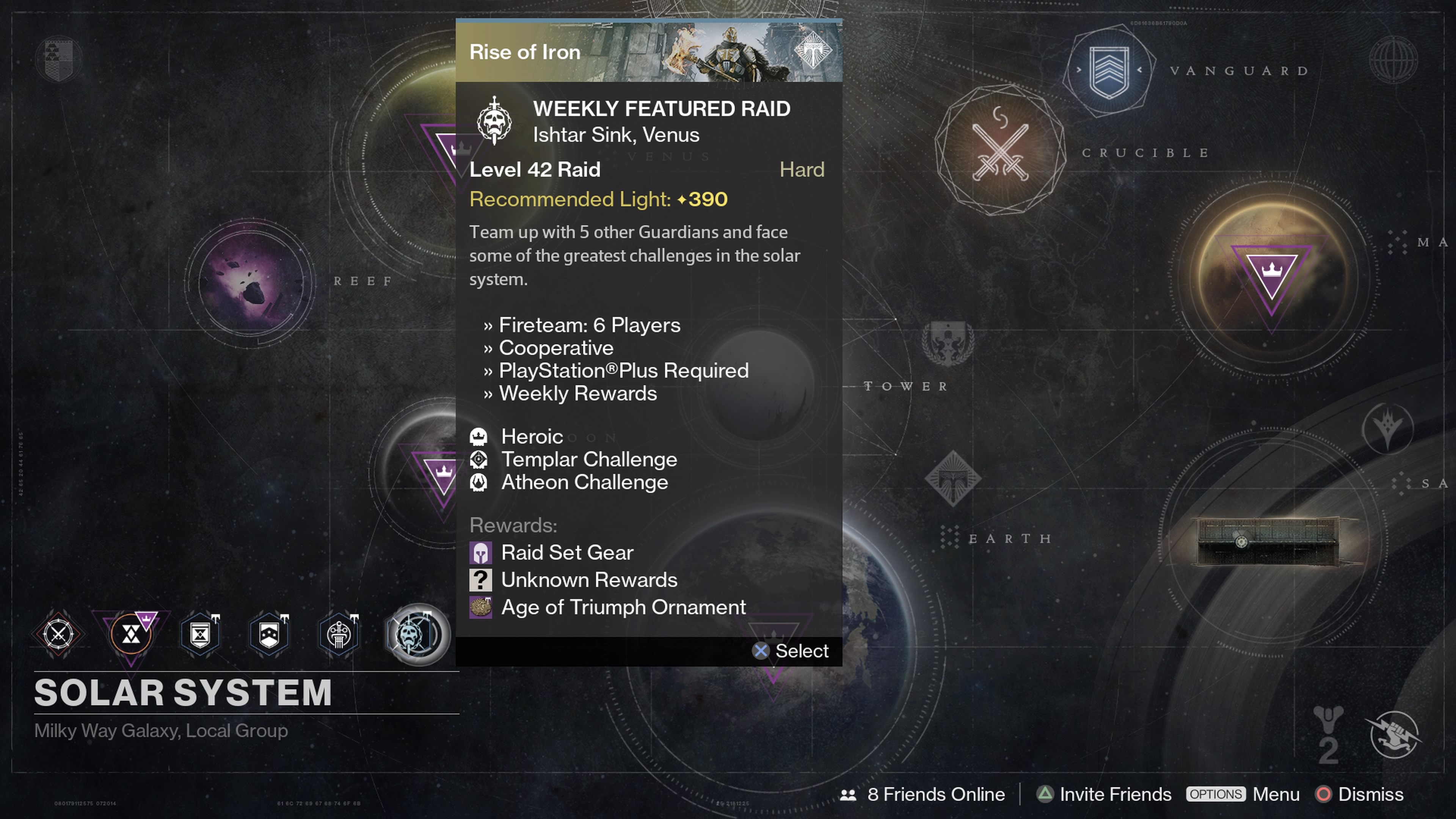 Complete the Weekly Featured Raid with five friends to complete this step