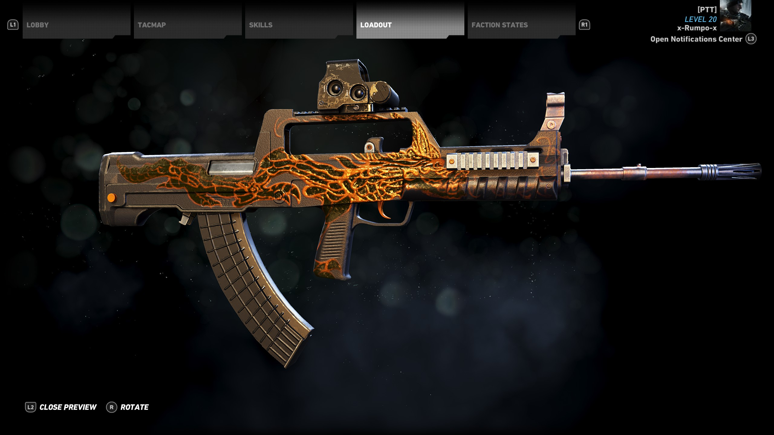 You cannot customize the Dragonbreath Light Machine Gun in Narco Road.
