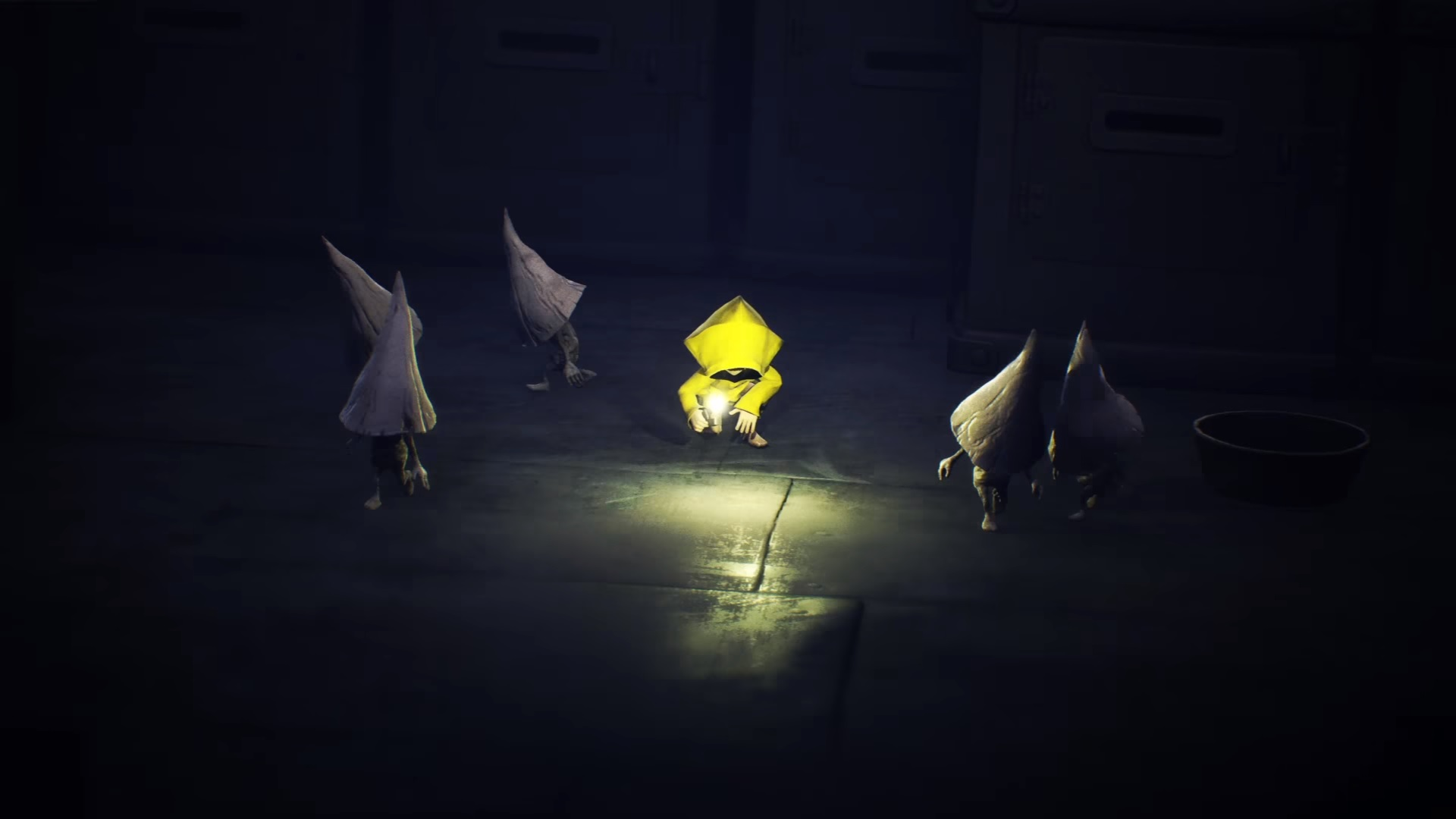During the Little Nightmares ending, several of the Nomes watch Six leave The Maw.