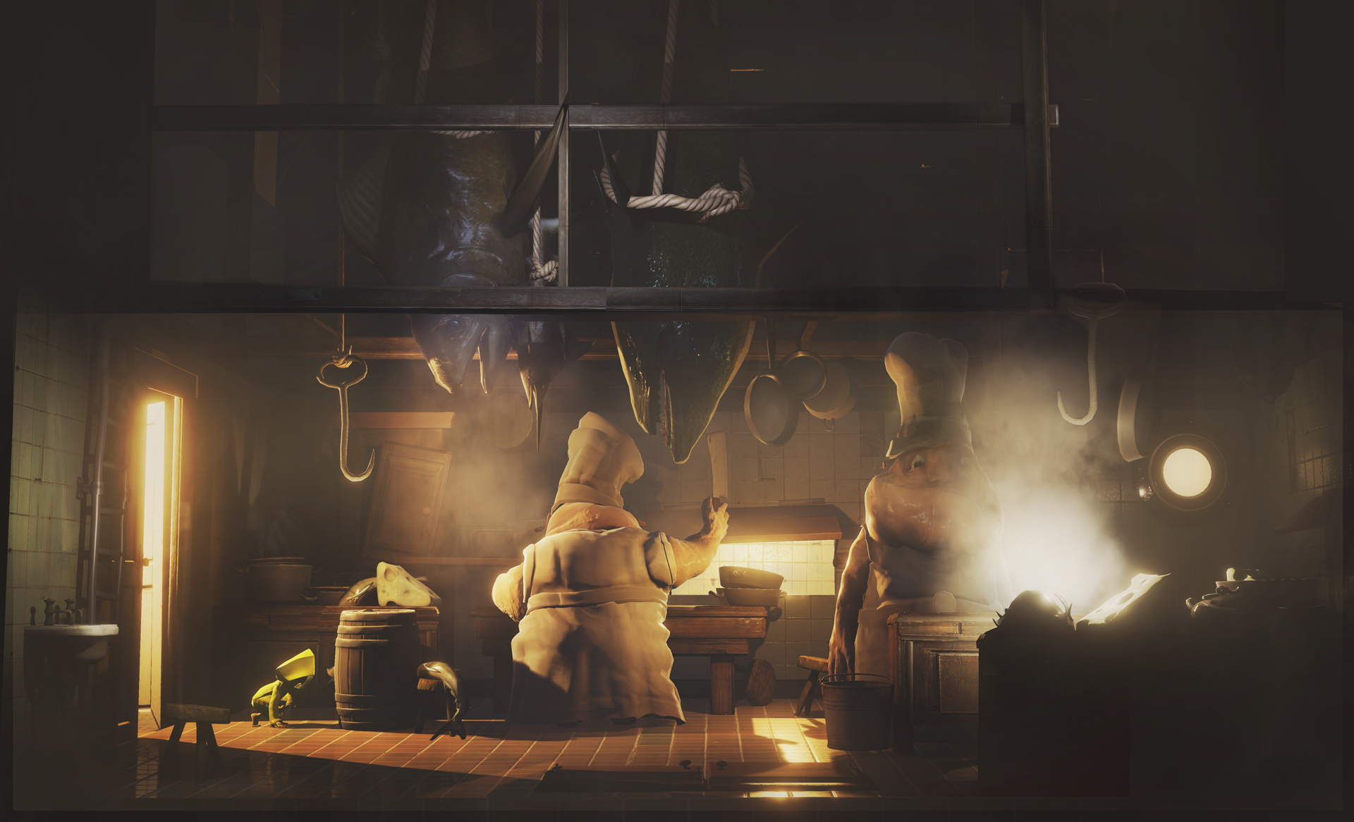 The Twin Chefs are responsible for cooking food for The Guestsaboard The Maw in Little Nightmares.