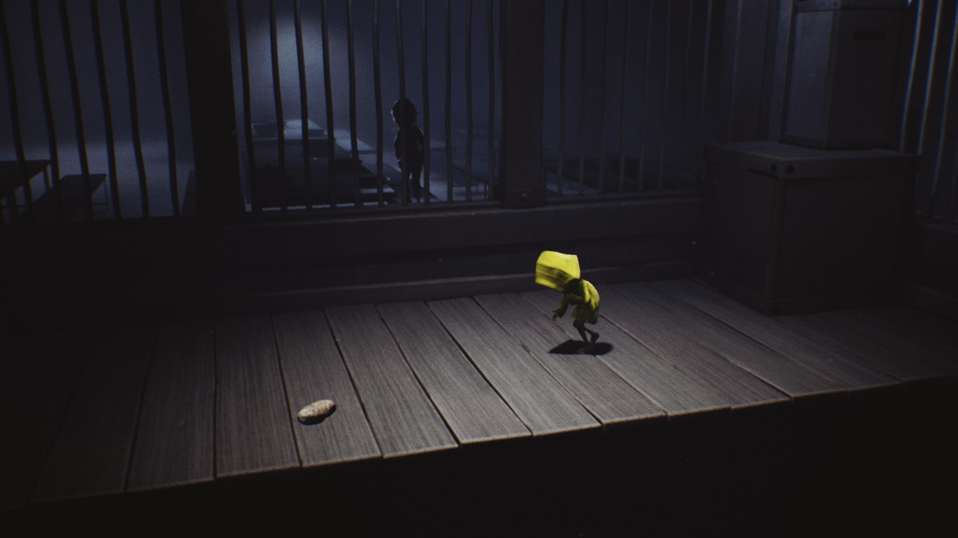 In the Little Nightmares story, one of the children aboard The Maw tosses Six a piece of bread.