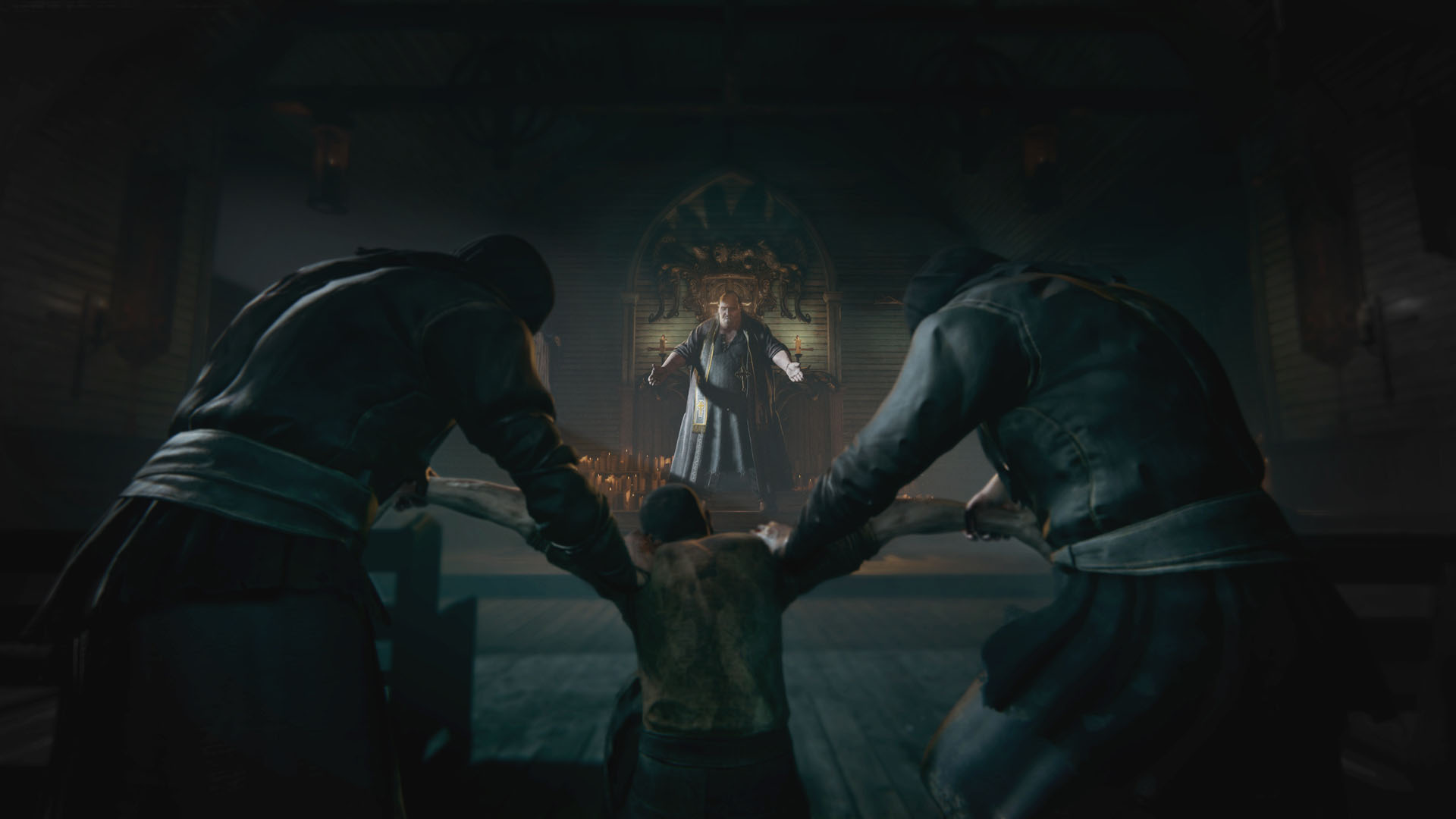 A man is held in a church - Outlast 2 Story Explained