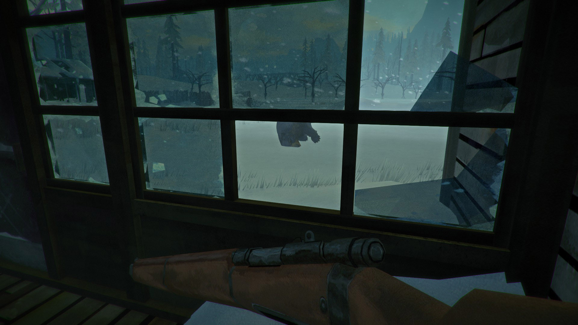 Porch view from the Pleasant Valley Farmstead in The Long Dark.