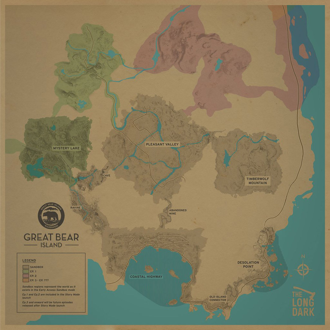 The Long Dark   All Region Maps | AllGamers