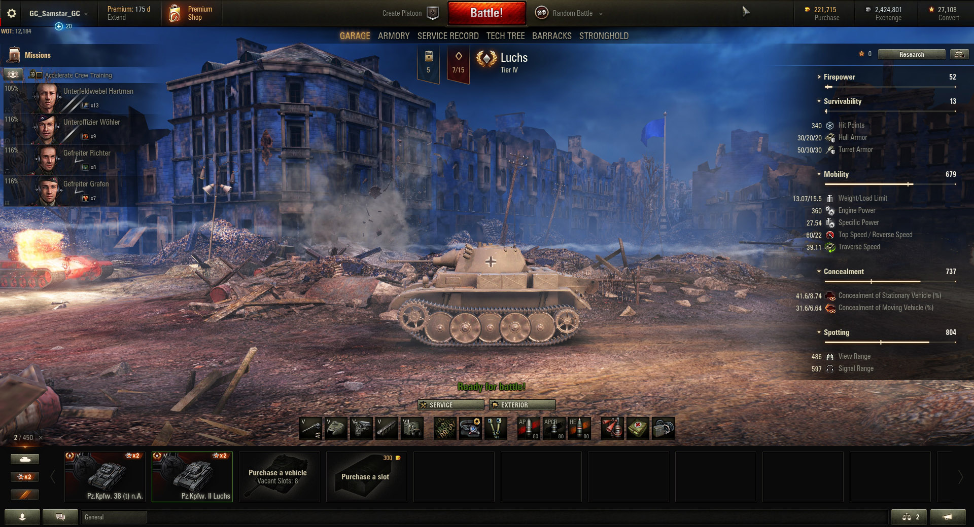 Luchs Matchmaking