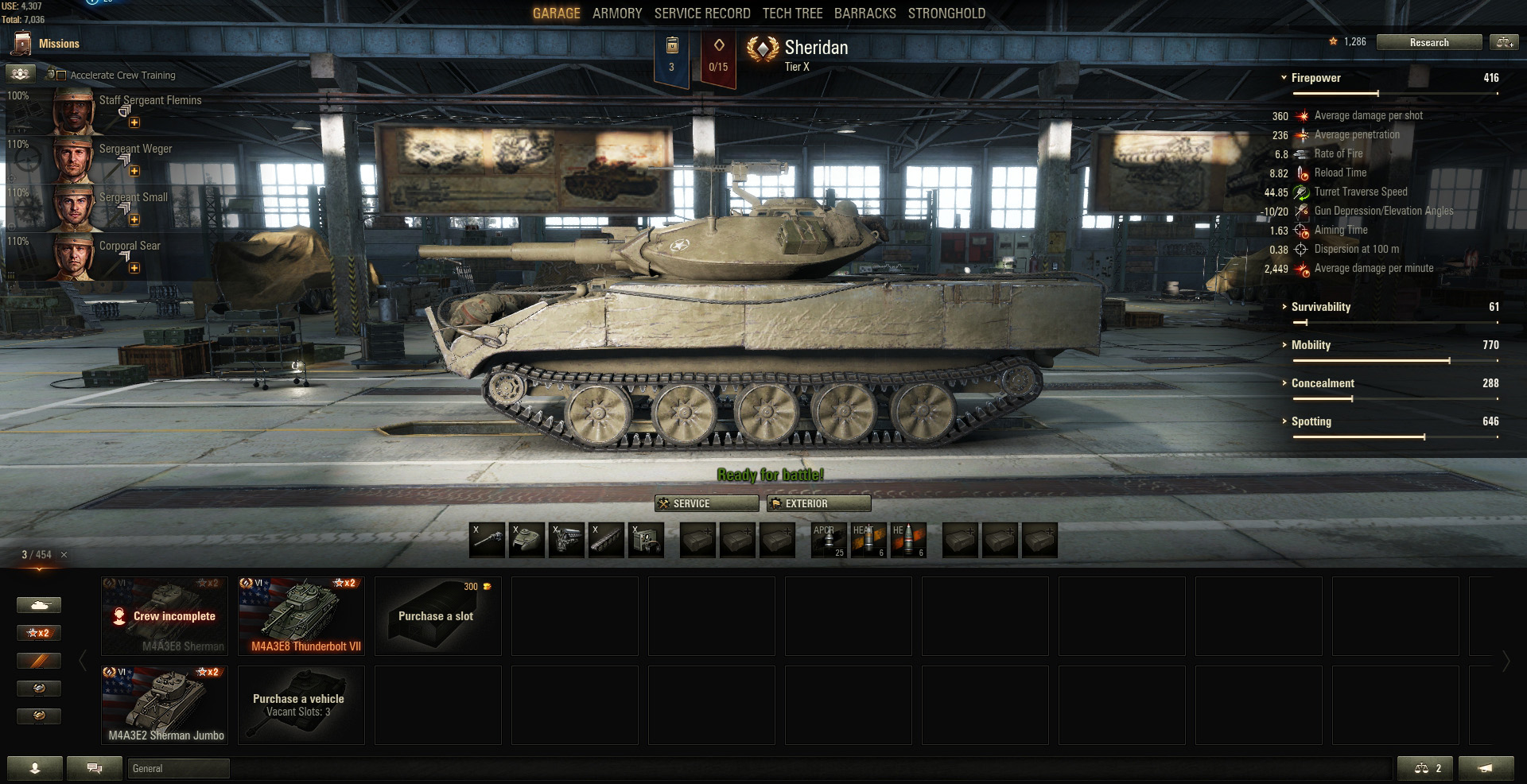 The Sheridan is the recently added Tier 10 Light tank that rounds off the USA Light tank line.