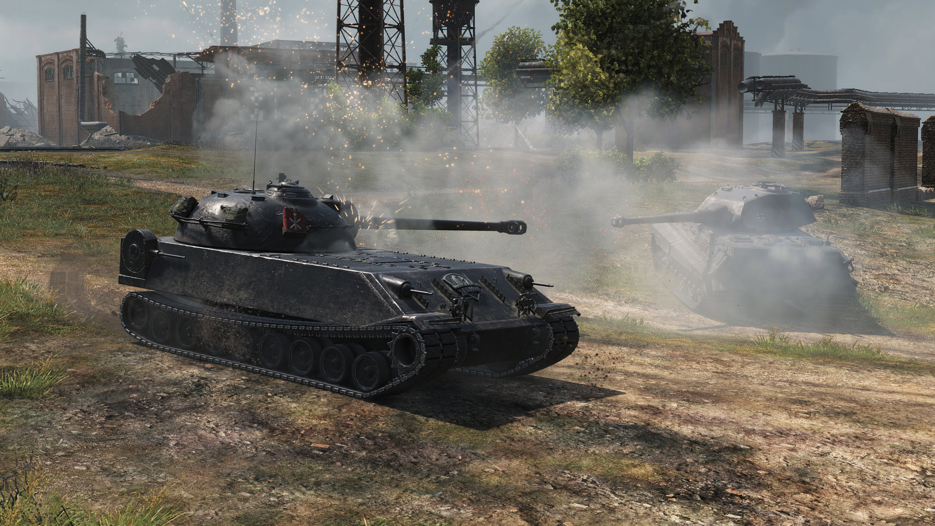A Light or Medium tank can use their speed to quickly get behind the Chrysler and punish its weak rear armor.