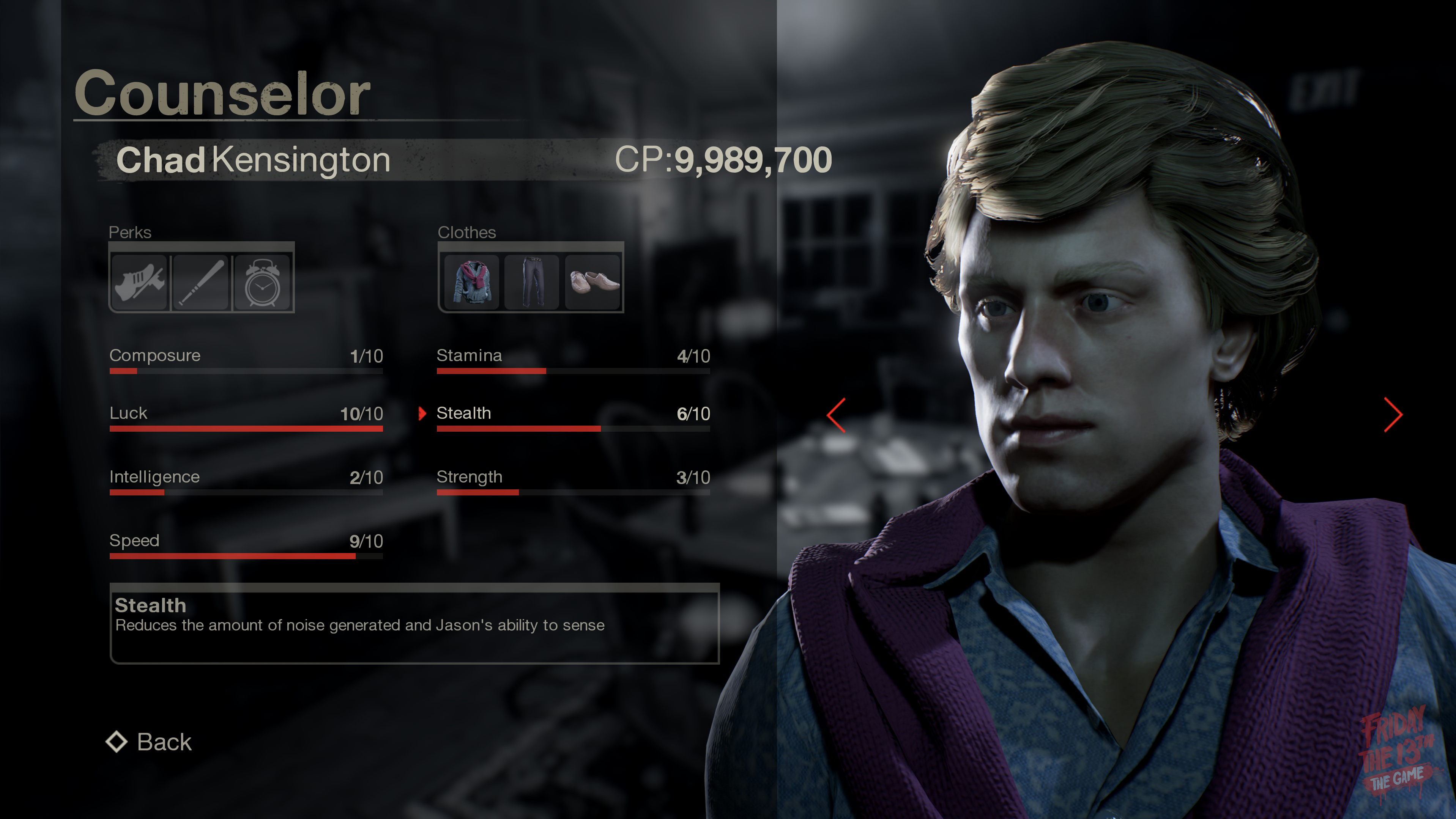 Chad from Friday the 13th: The game