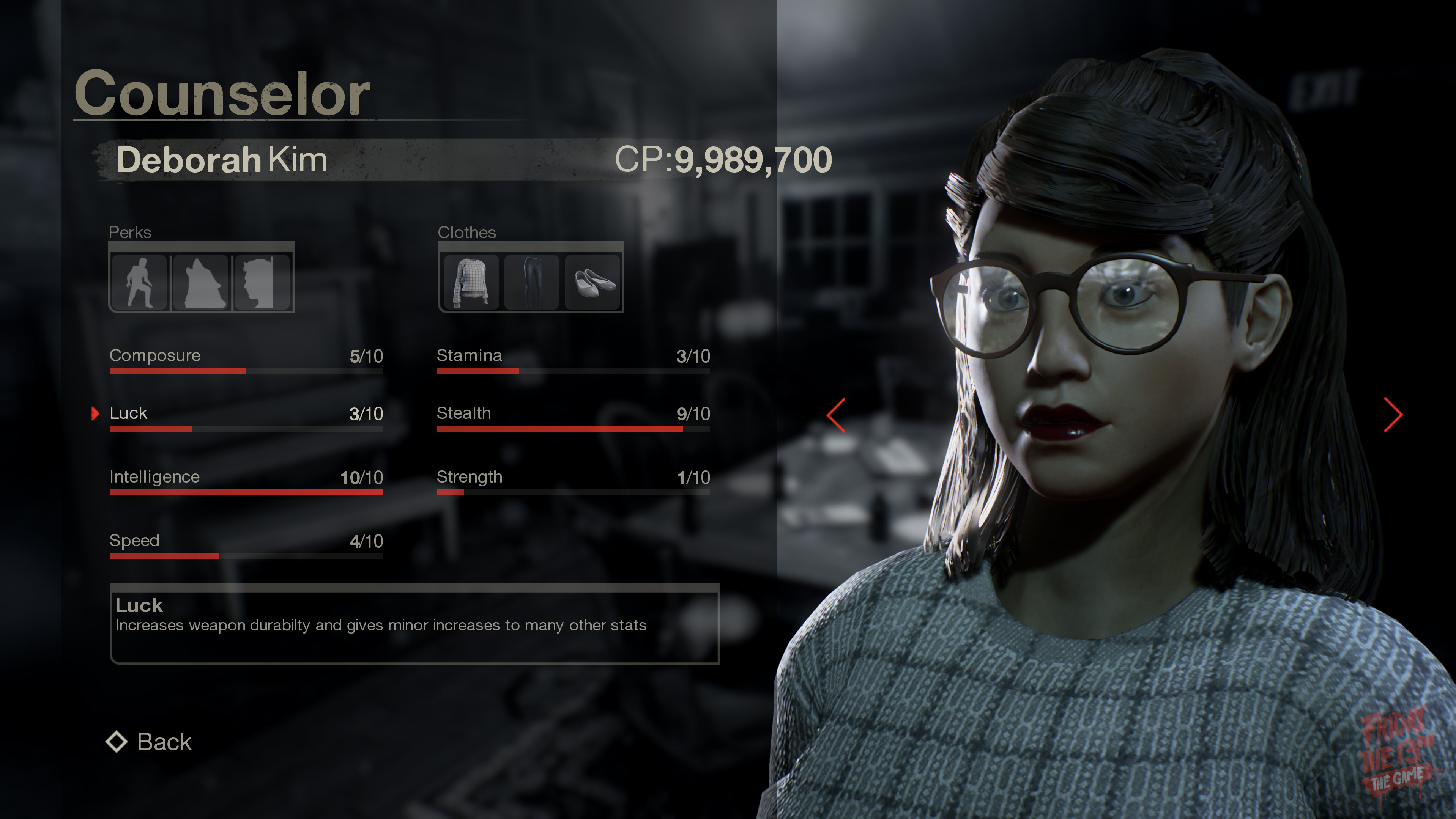 Deborah from Friday the 13th: The game