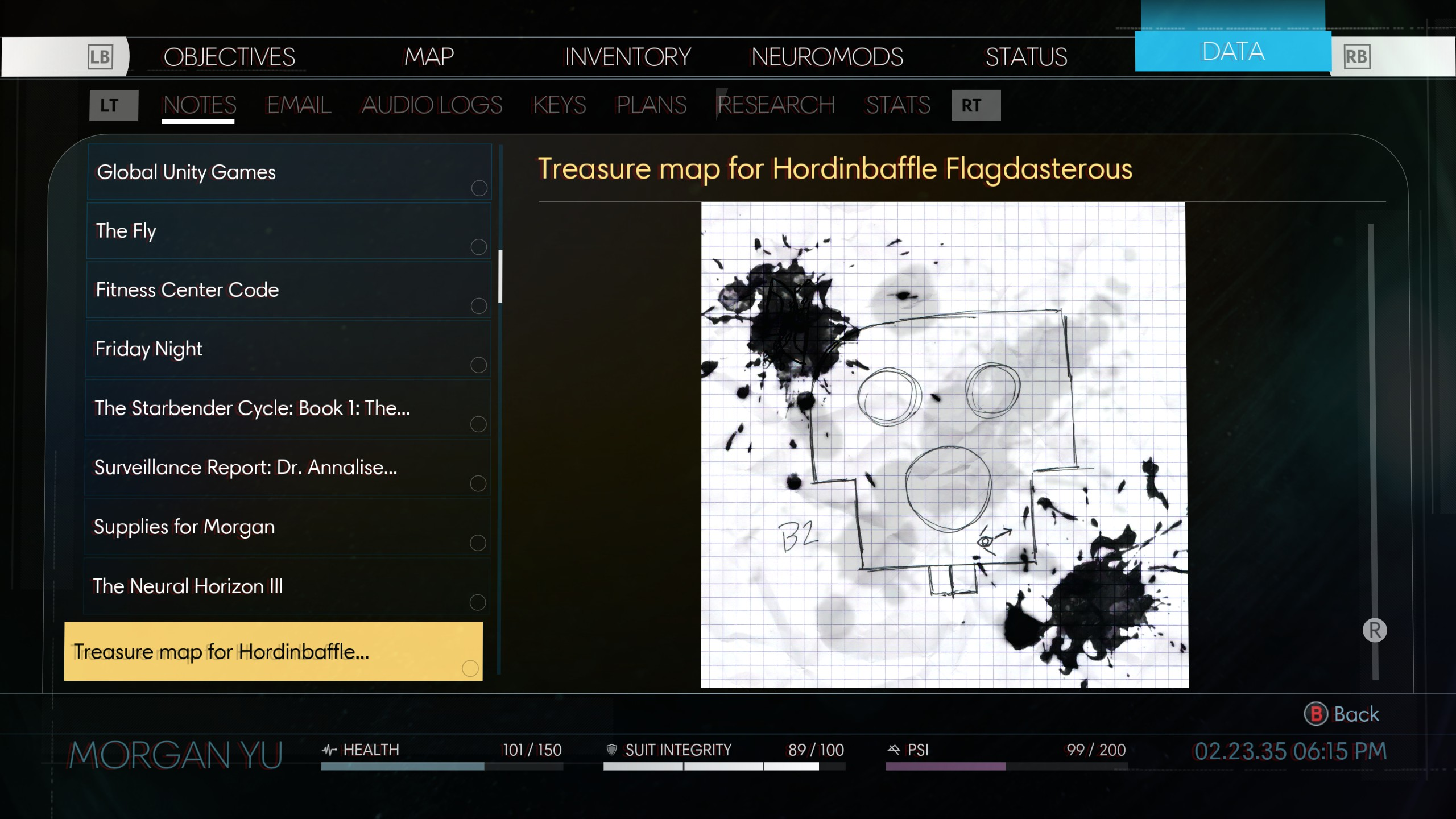 Zachary West's Treasure Map is called Hordinbaffle Flagdasterous.