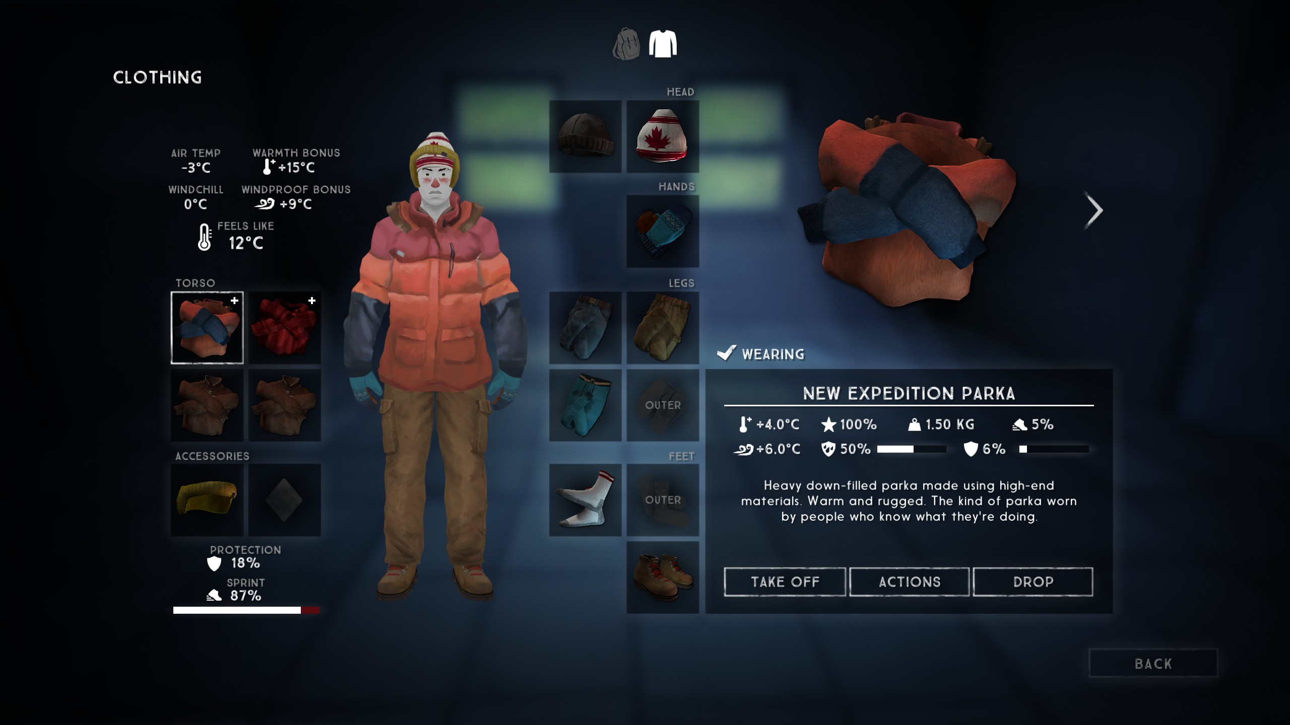 The Expedition Parka is one of the best clothing items in The Long Dark.
